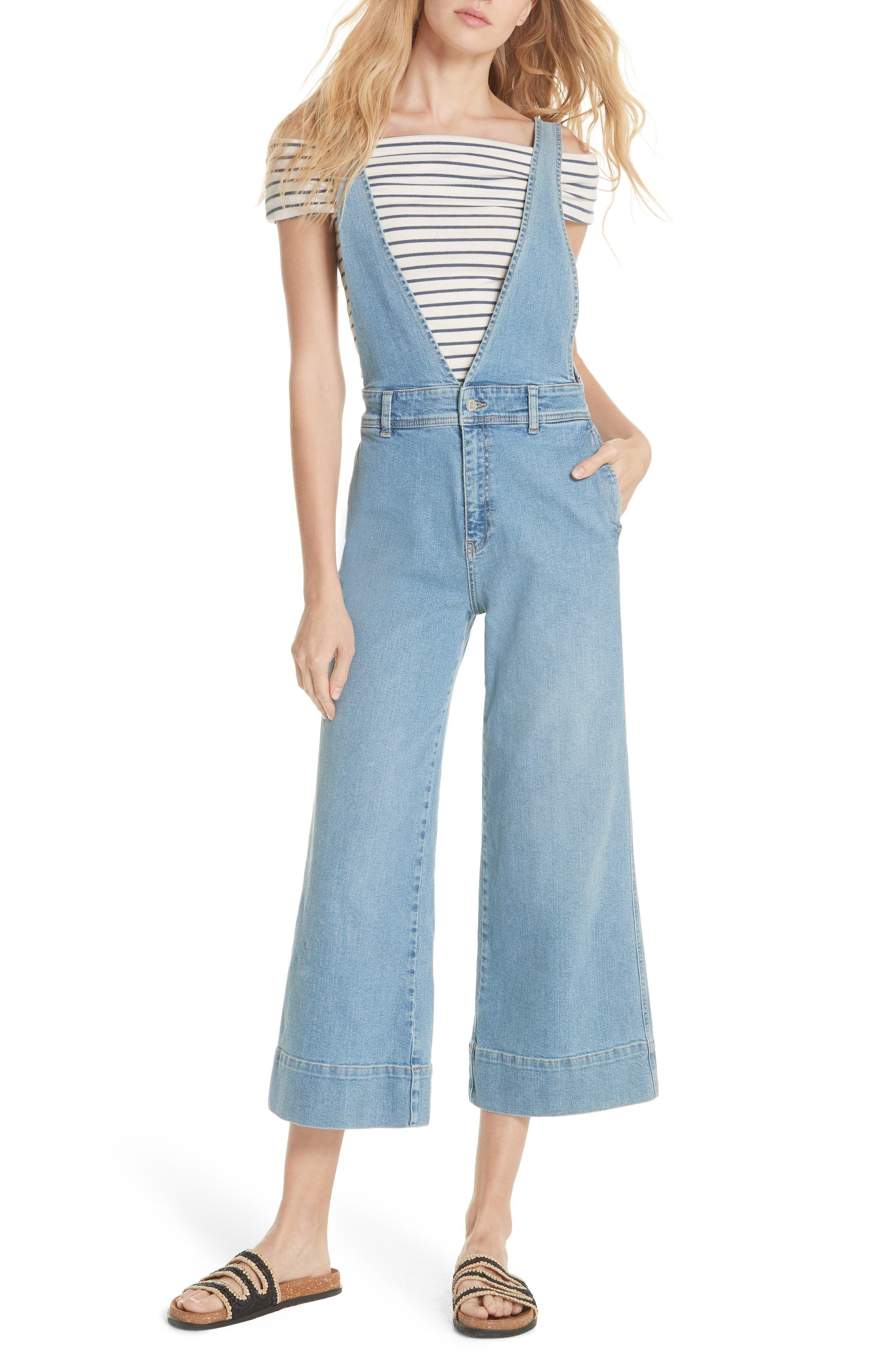 We the Free by Free People A-Line Overalls, Main, color, 456