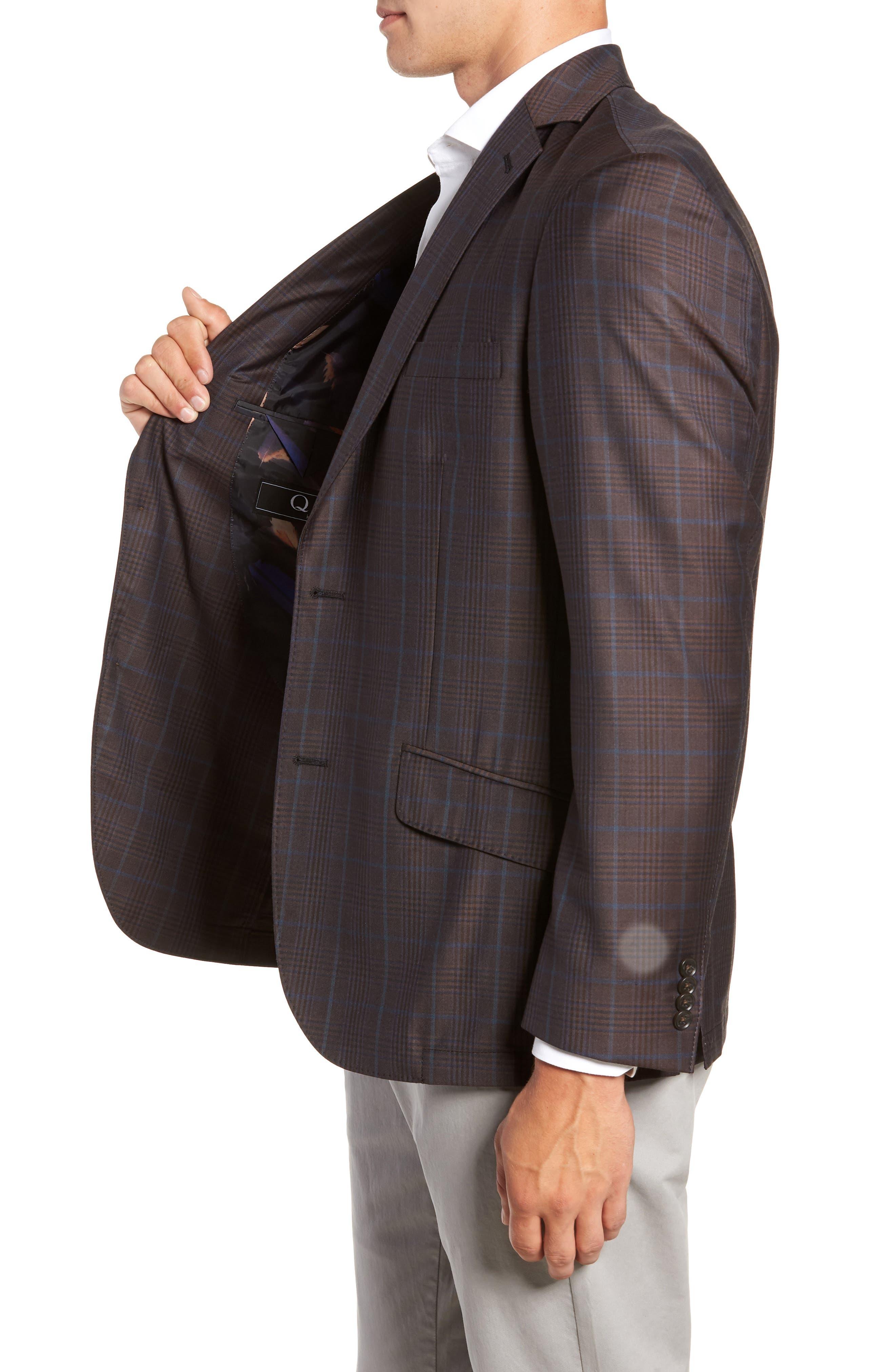 Regular Fit Super 130's Wool Blazer,                             Alternate thumbnail 3, color,                             BROWN