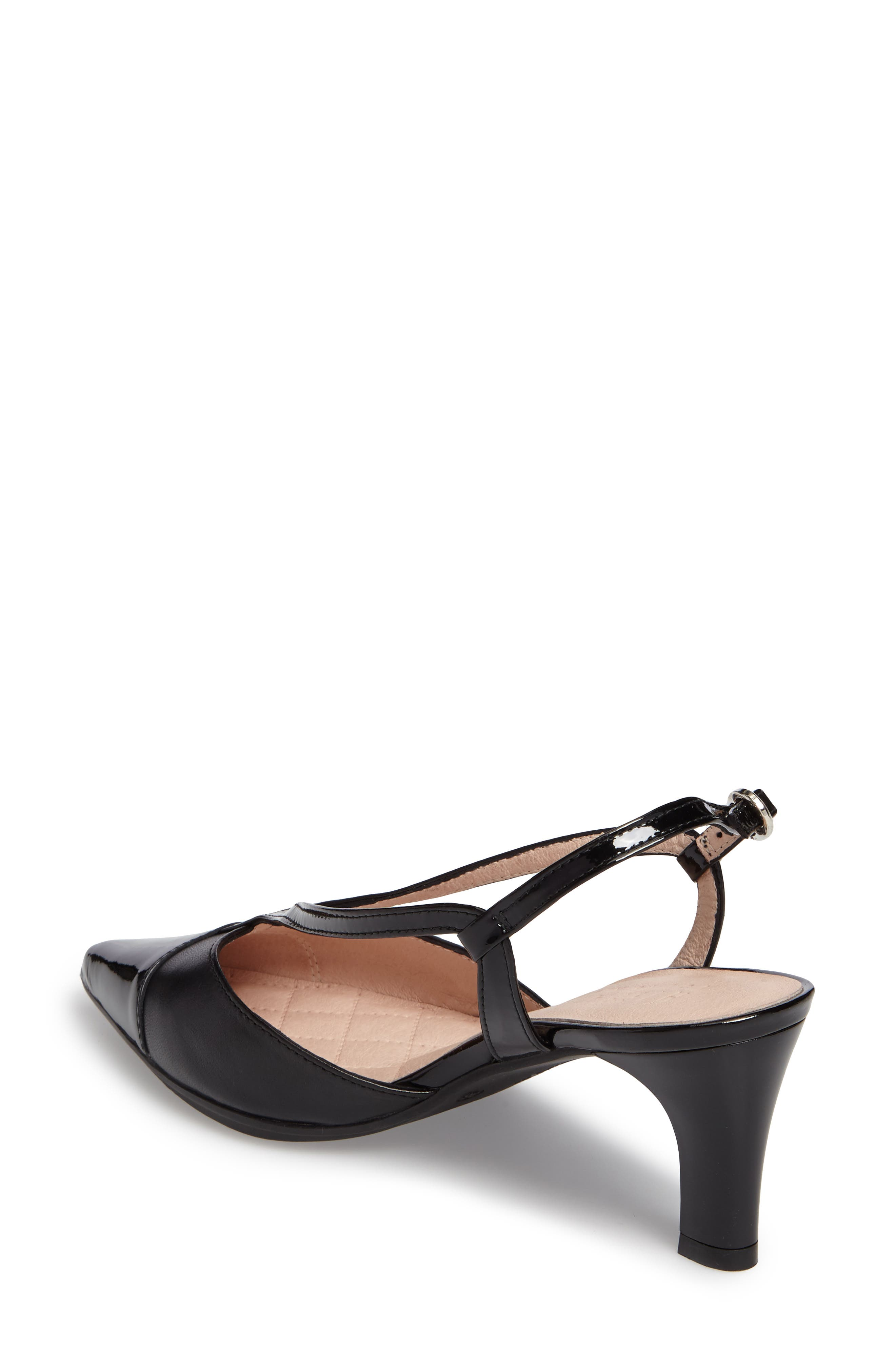 Hipster Pointy Cap Toe Pump,                             Alternate thumbnail 2, color,                             001