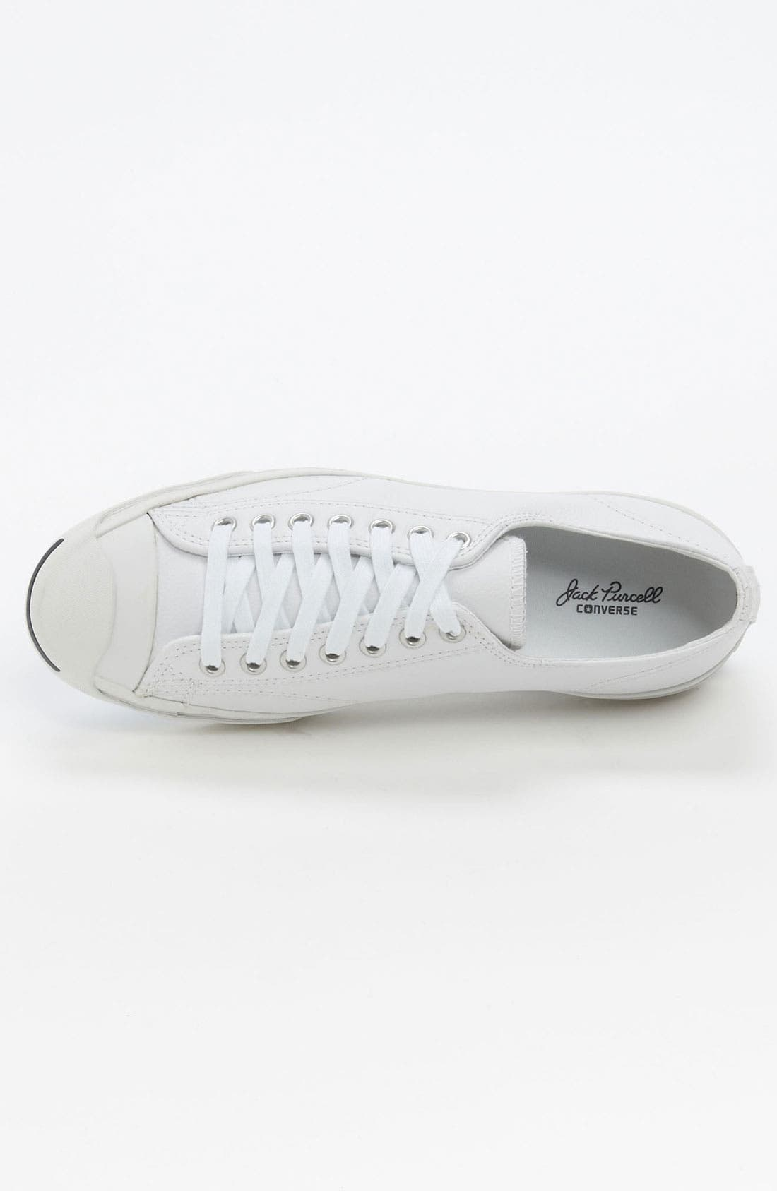 'Jack Purcell' Leather Sneaker,                             Alternate thumbnail 10, color,                             WHITE/ NAVY