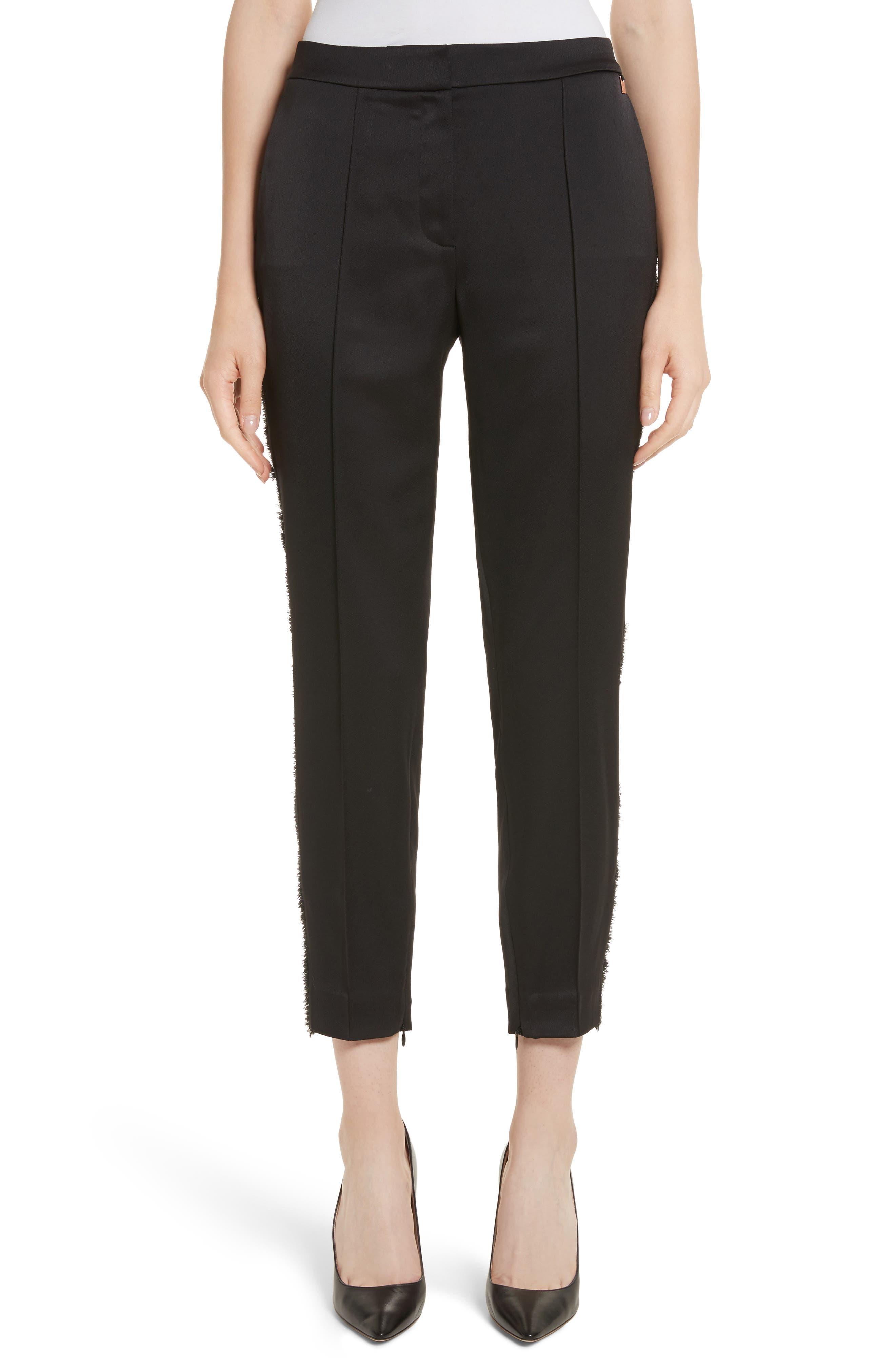 Fringe Side Seam Trousers,                         Main,                         color, 001