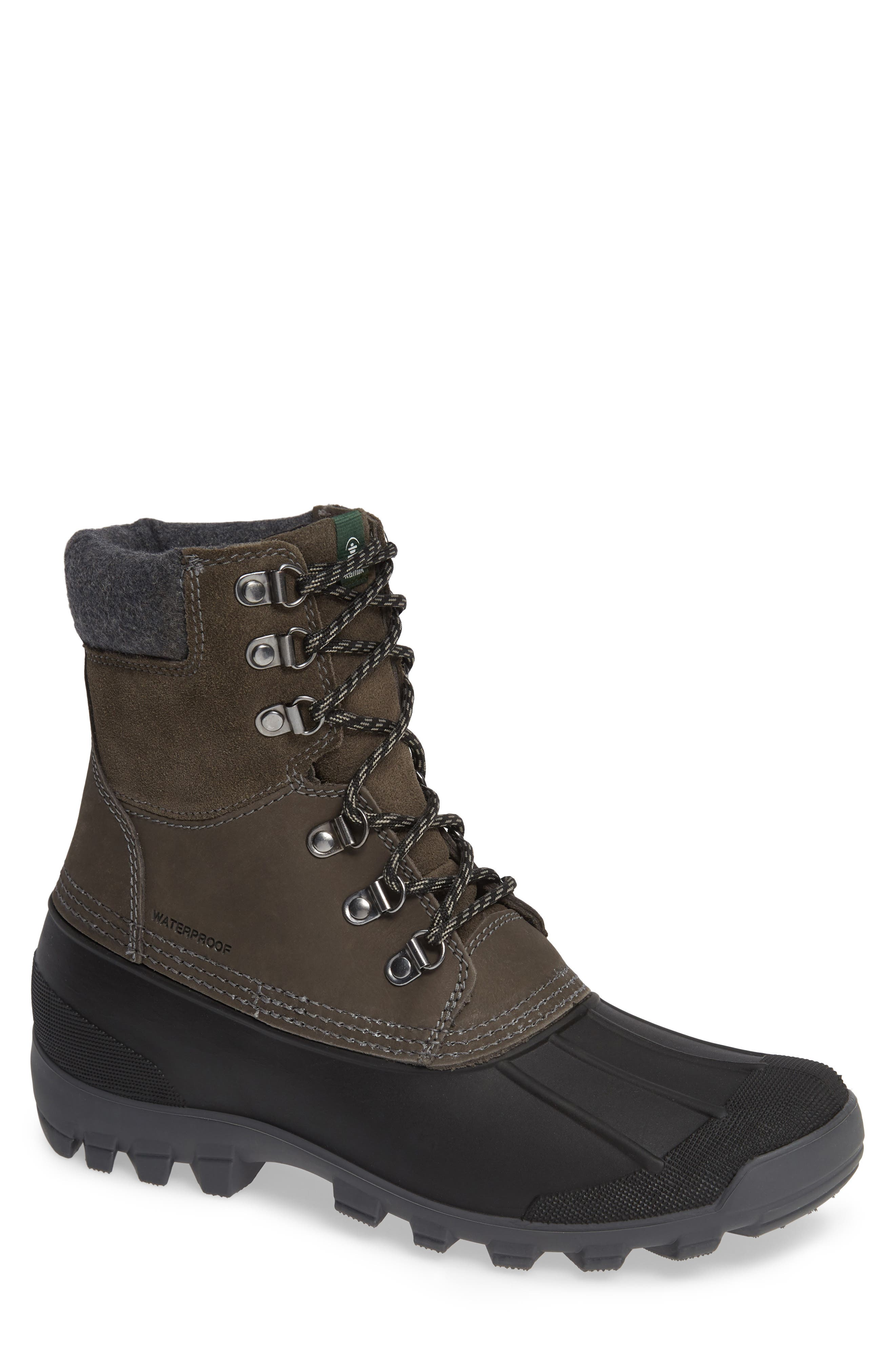 Hudson 5 Boot,                         Main,                         color, CHARCOAL LEATHER