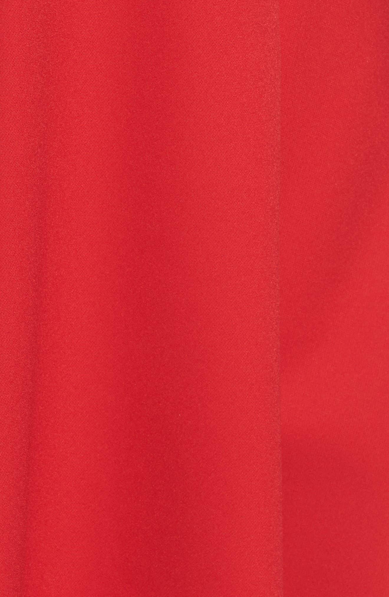 Pearl Cold Shoulder Fit & Flare Dress,                             Alternate thumbnail 5, color,                             600