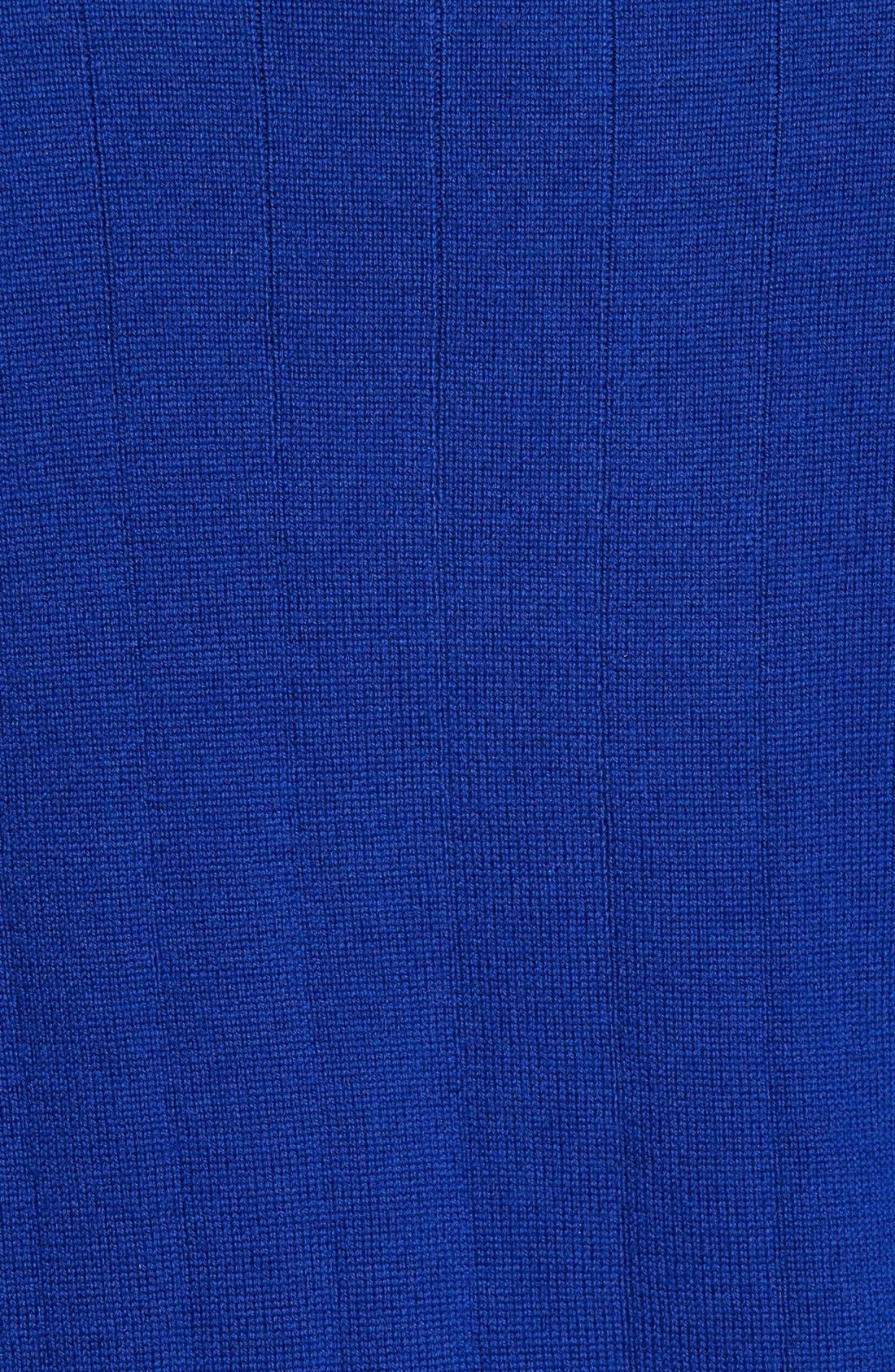 Windproof Merino Wool Quarter Zip Sweater,                             Alternate thumbnail 5, color,                             401