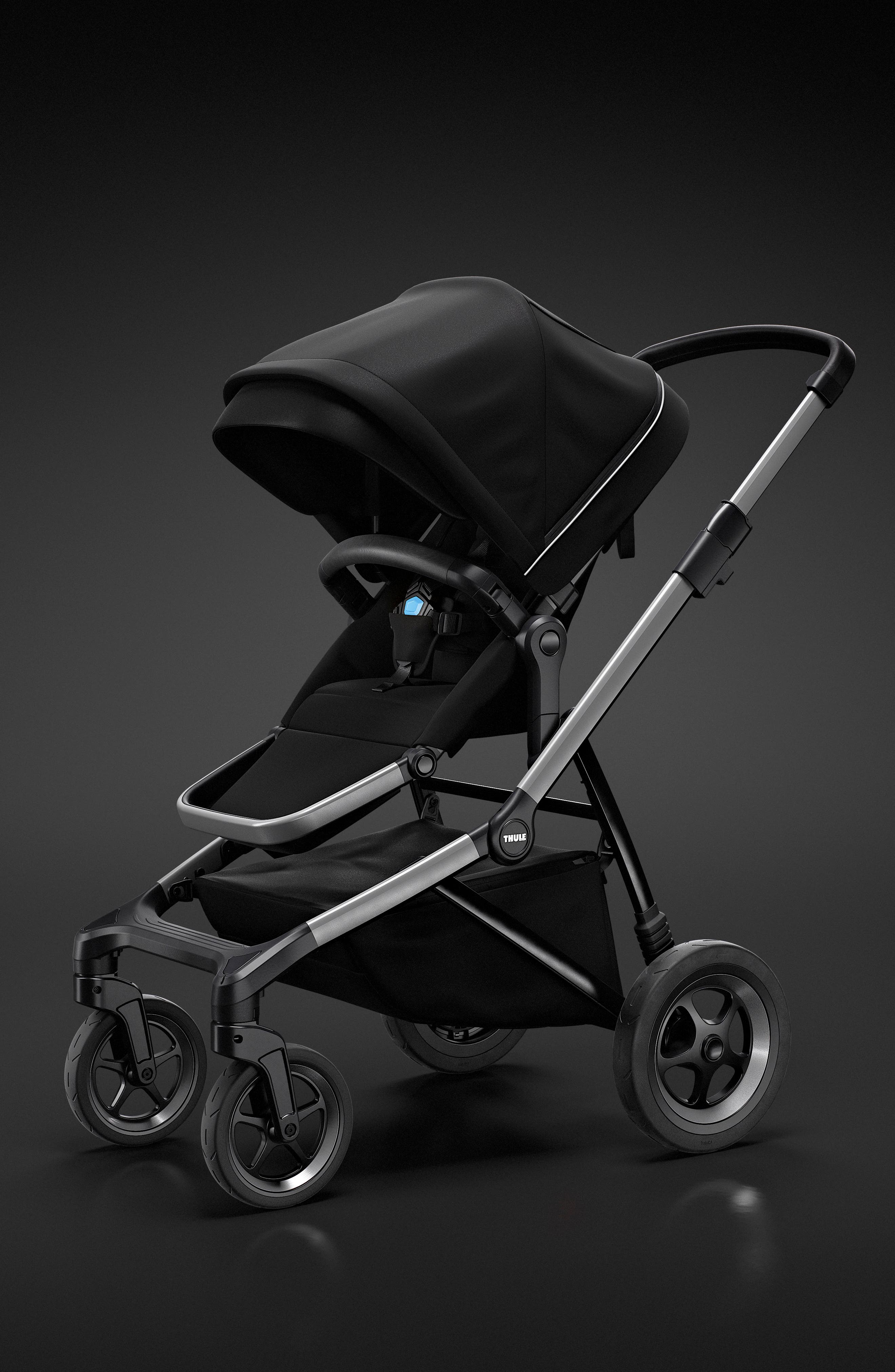 2018 Sleek City Stroller,                             Alternate thumbnail 9, color,                             BLACK