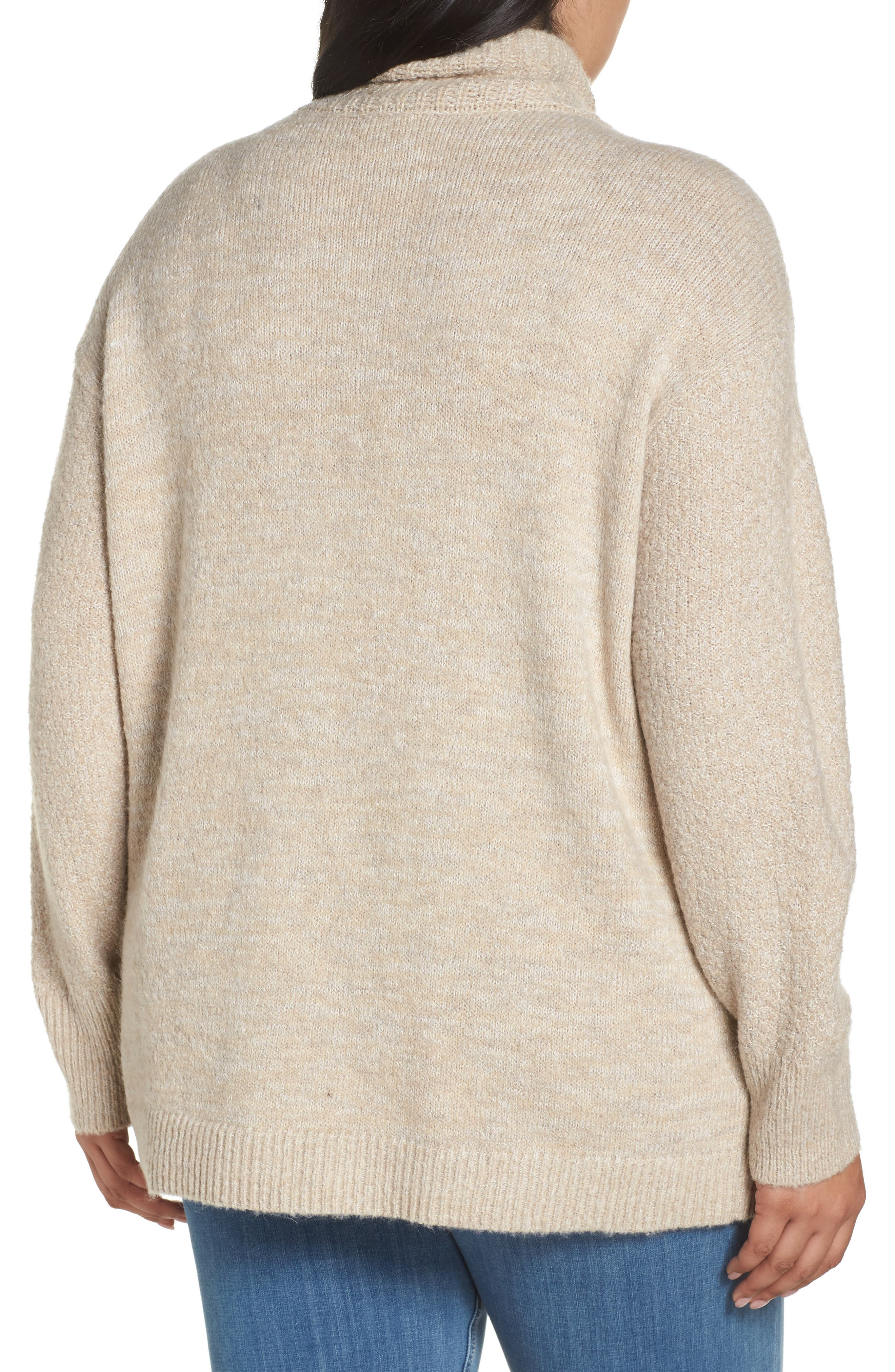 Mock Neck Cable Knit Sweater,                             Alternate thumbnail 2, color,                             230