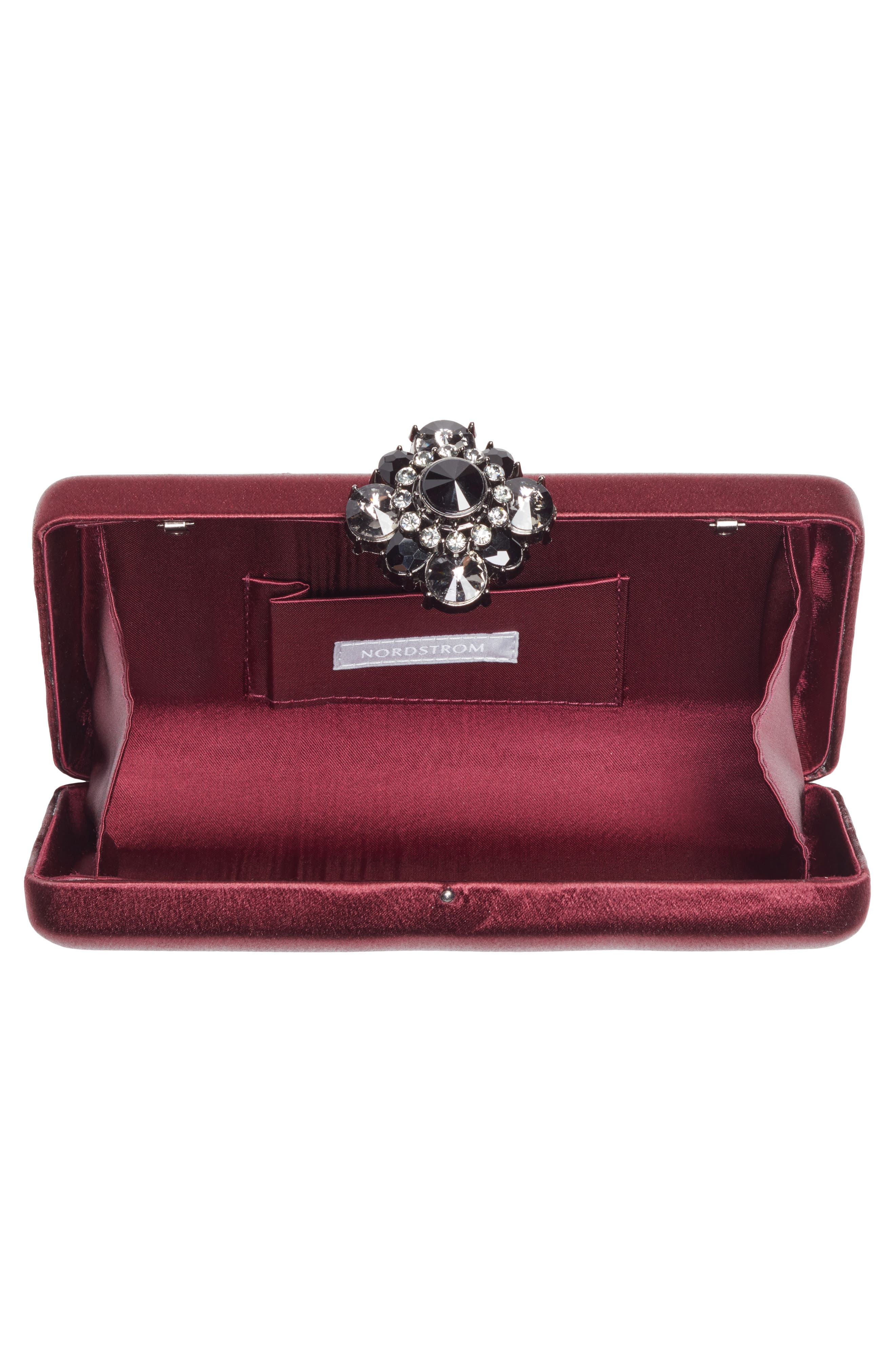 Crystal Flower Clasp Box Clutch,                             Alternate thumbnail 4, color,                             930