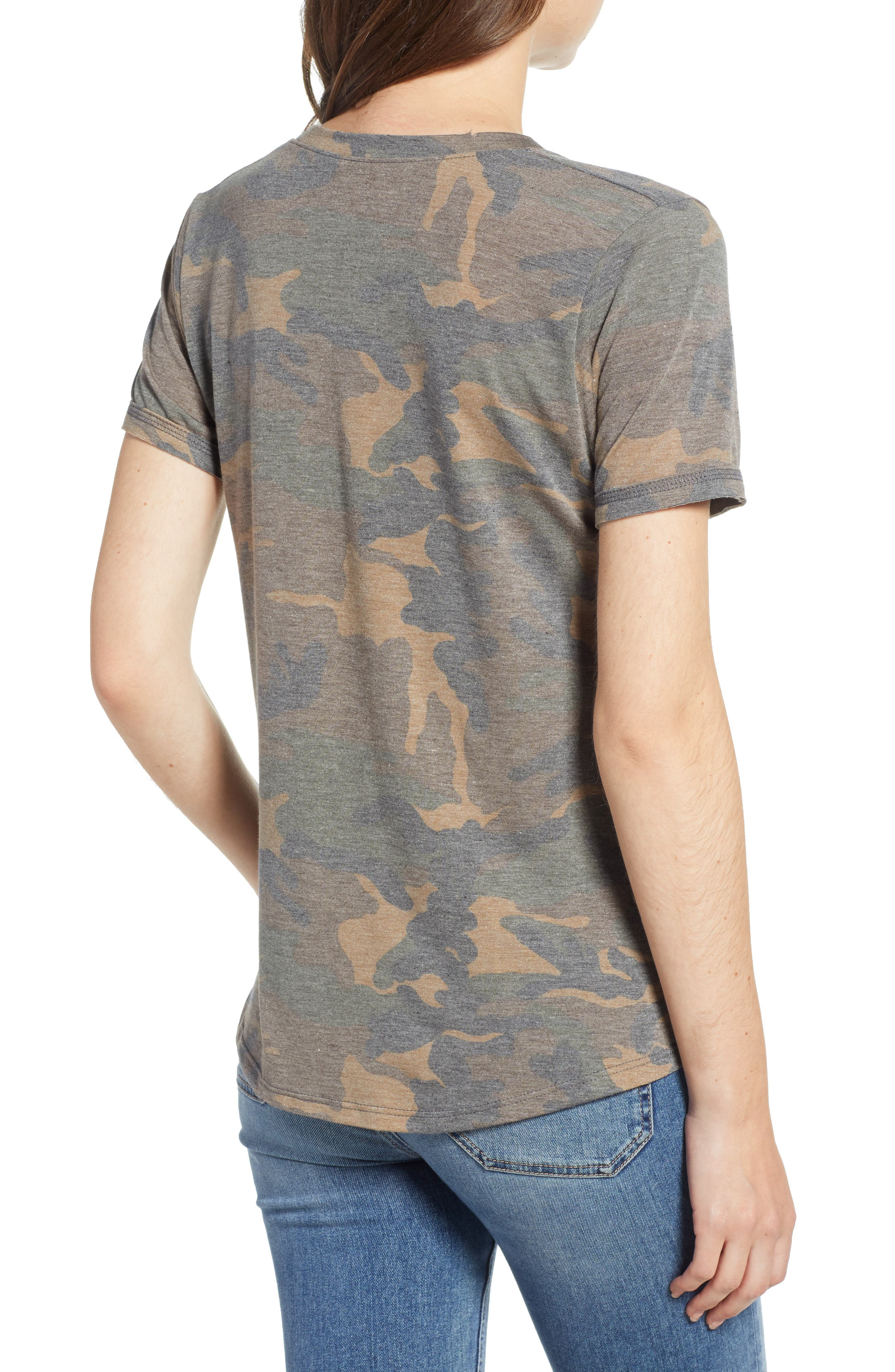 Distressed Camo Tee,                             Alternate thumbnail 2, color,                             304
