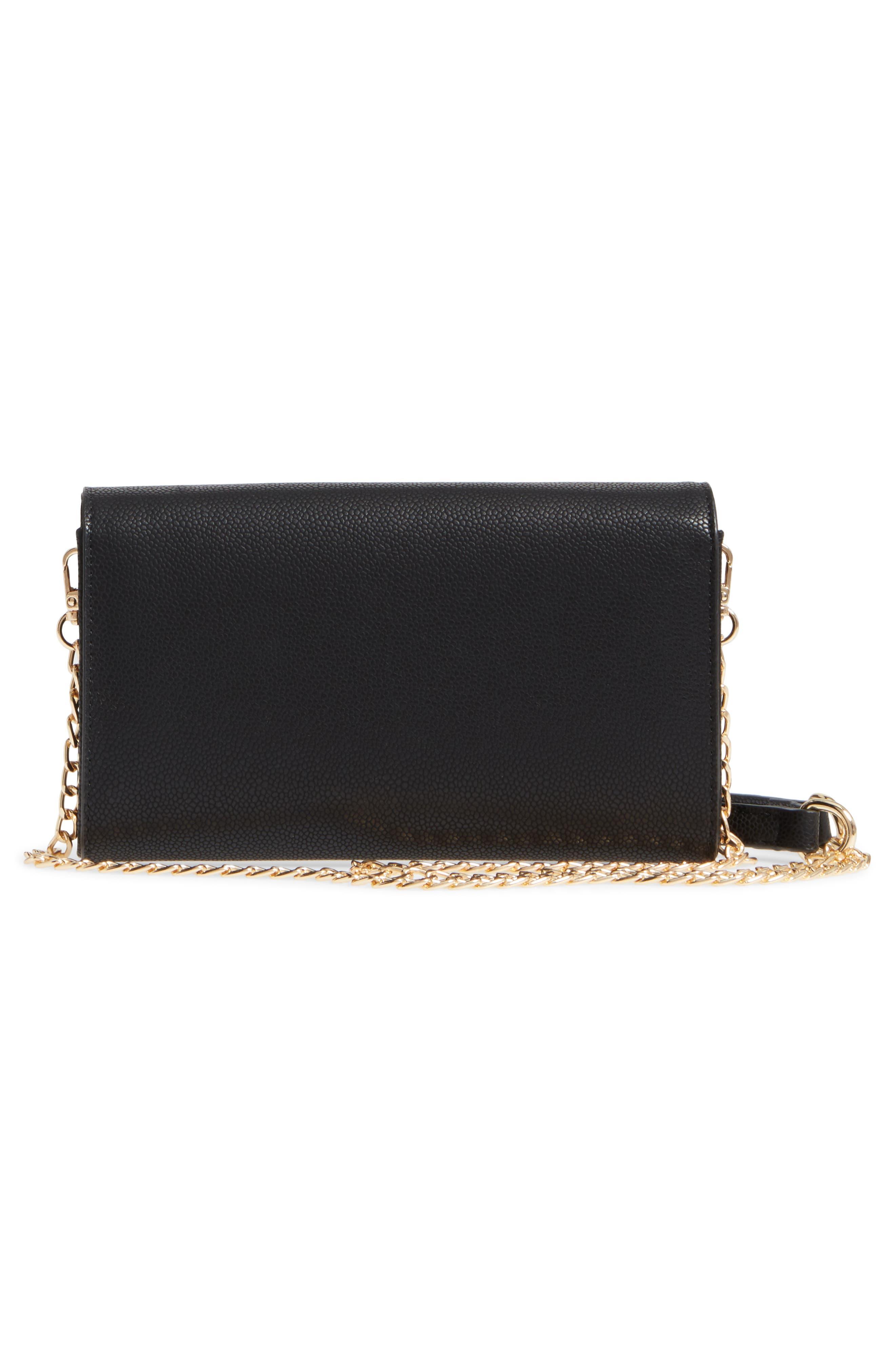 Faux Leather Envelope Crossbody Bag,                             Alternate thumbnail 3, color,