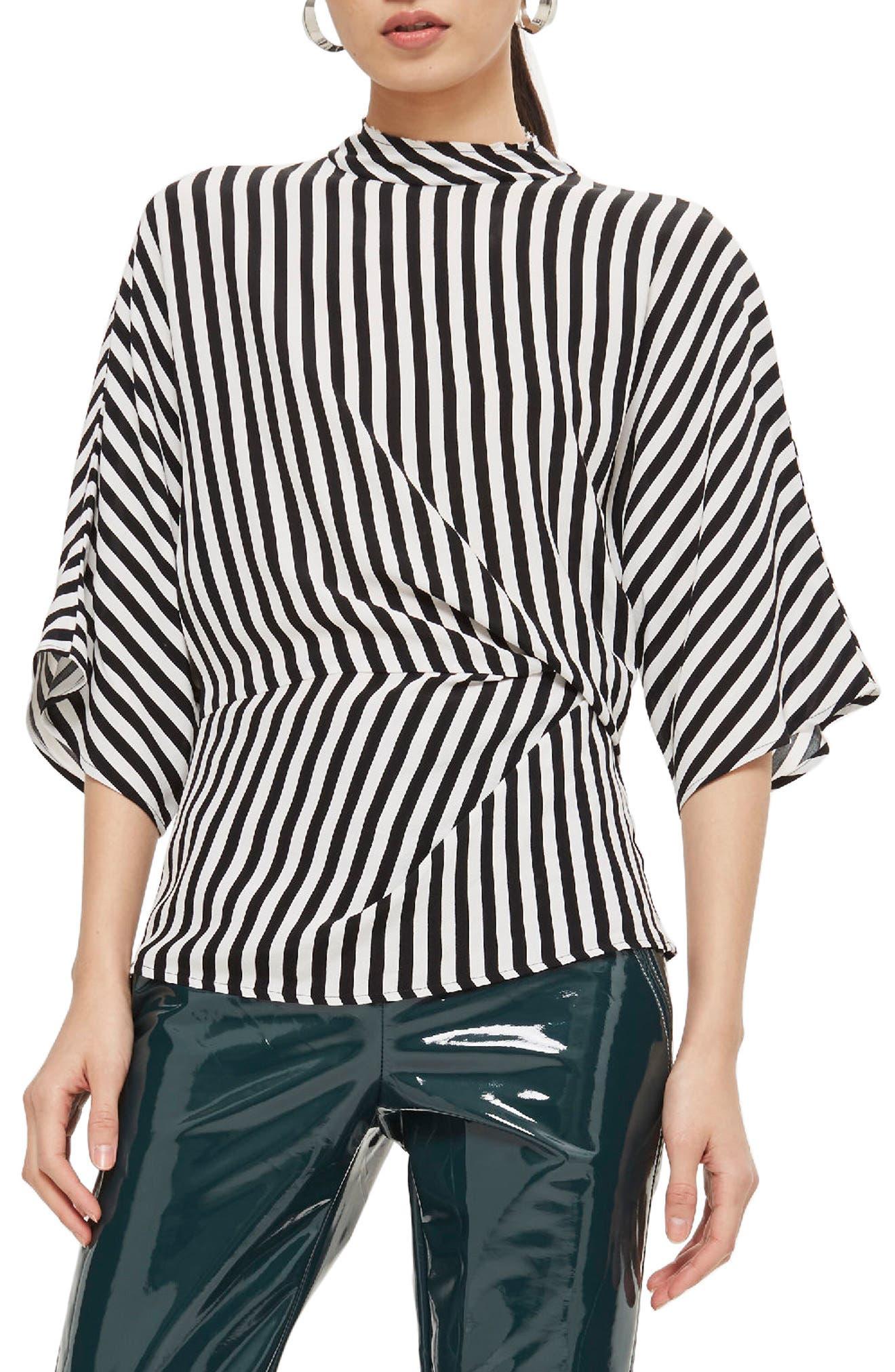 Stripe Tuck Detail Top,                         Main,                         color, 001