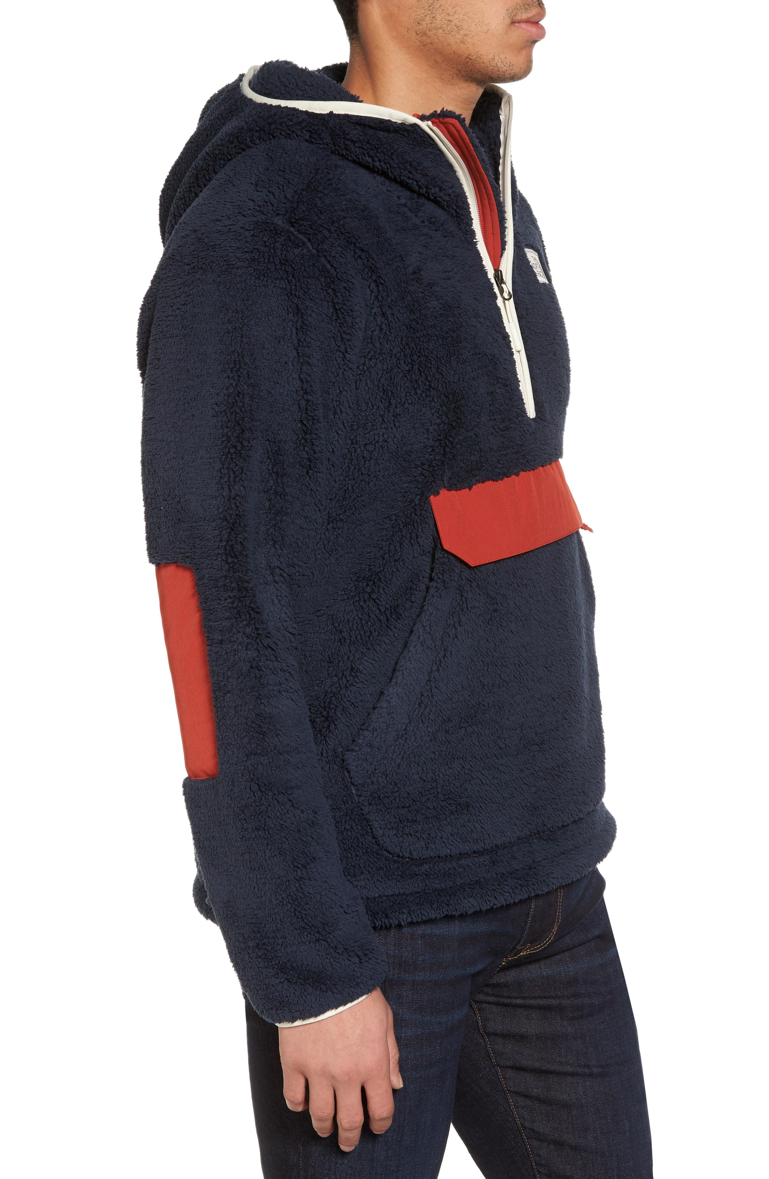 Campshire High Pile Fleece Pullover Hoodie,                             Alternate thumbnail 3, color,                             401