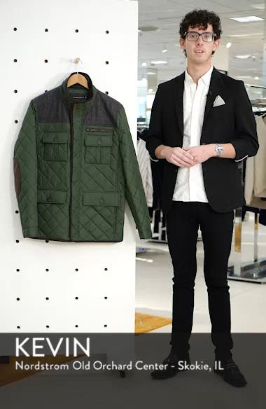 Diamond Quilted Full Zip Jacket, sales video thumbnail