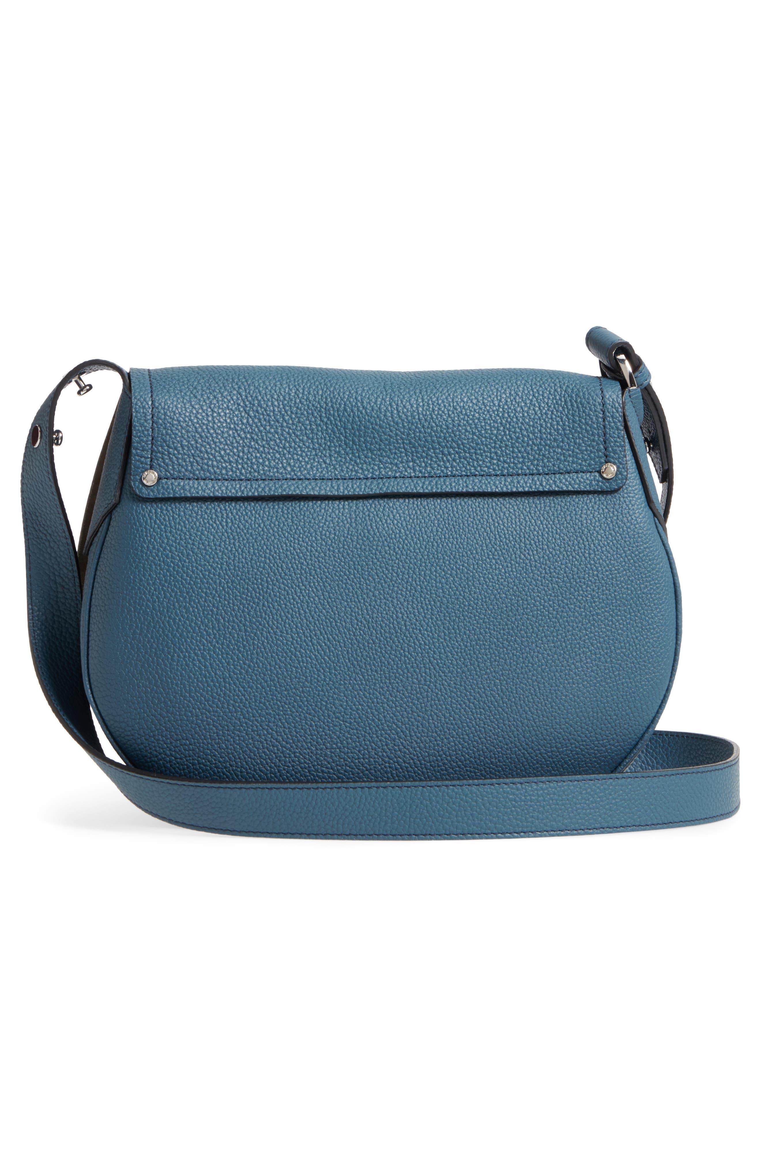 Small Valeria Leather Crossbody Bag,                             Alternate thumbnail 9, color,