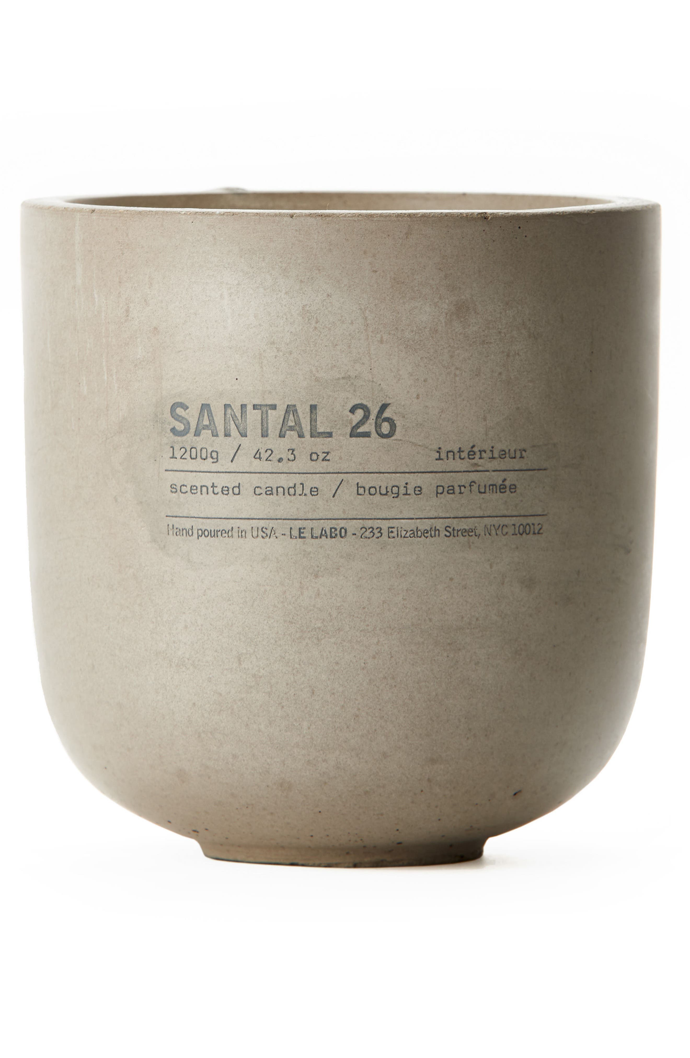 LE LABO,                             Santal 26 Concrete Candle,                             Main thumbnail 1, color,                             000