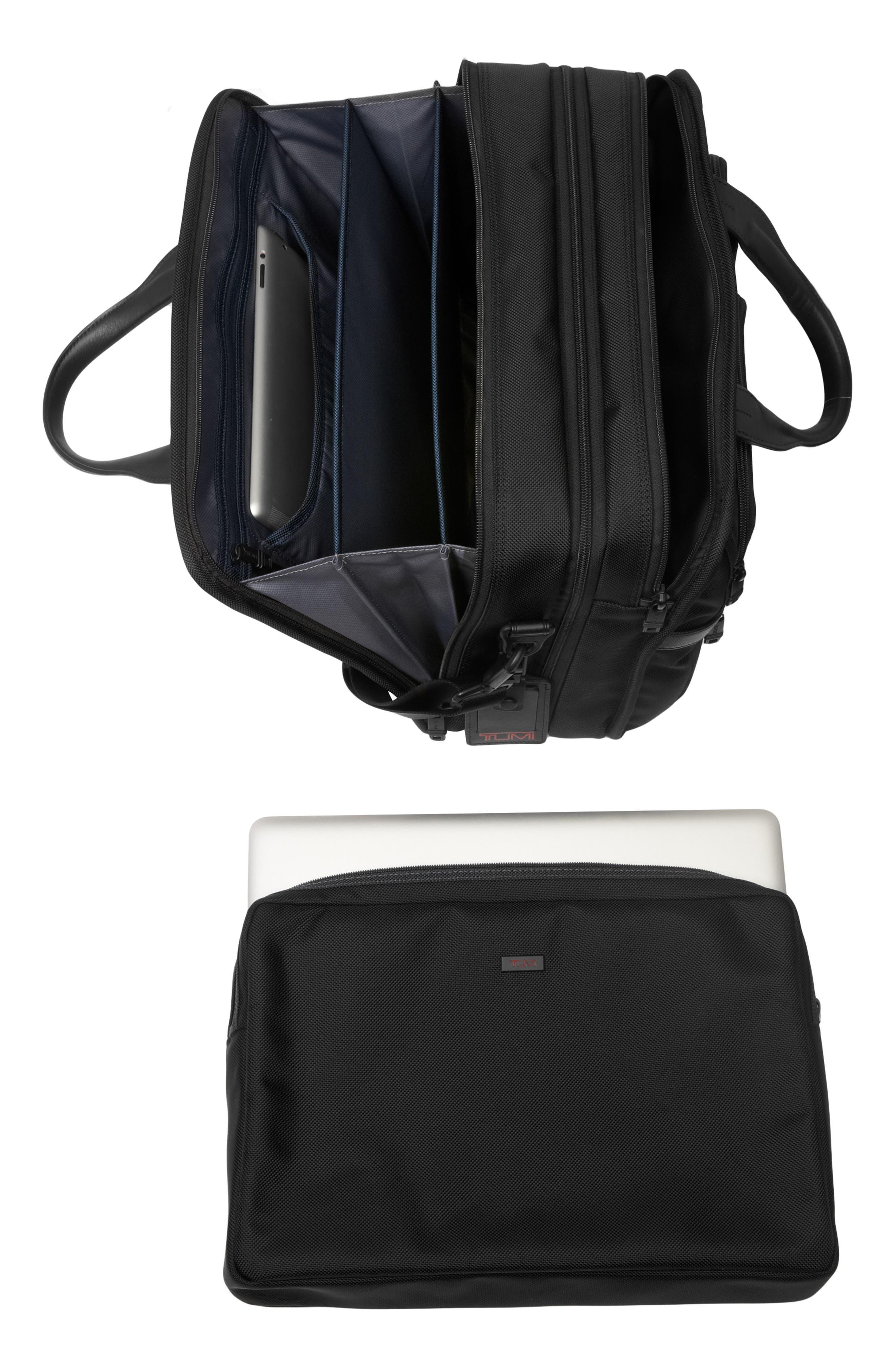 Alpha 2 Expandable Laptop Briefcase,                             Alternate thumbnail 6, color,                             BLACK