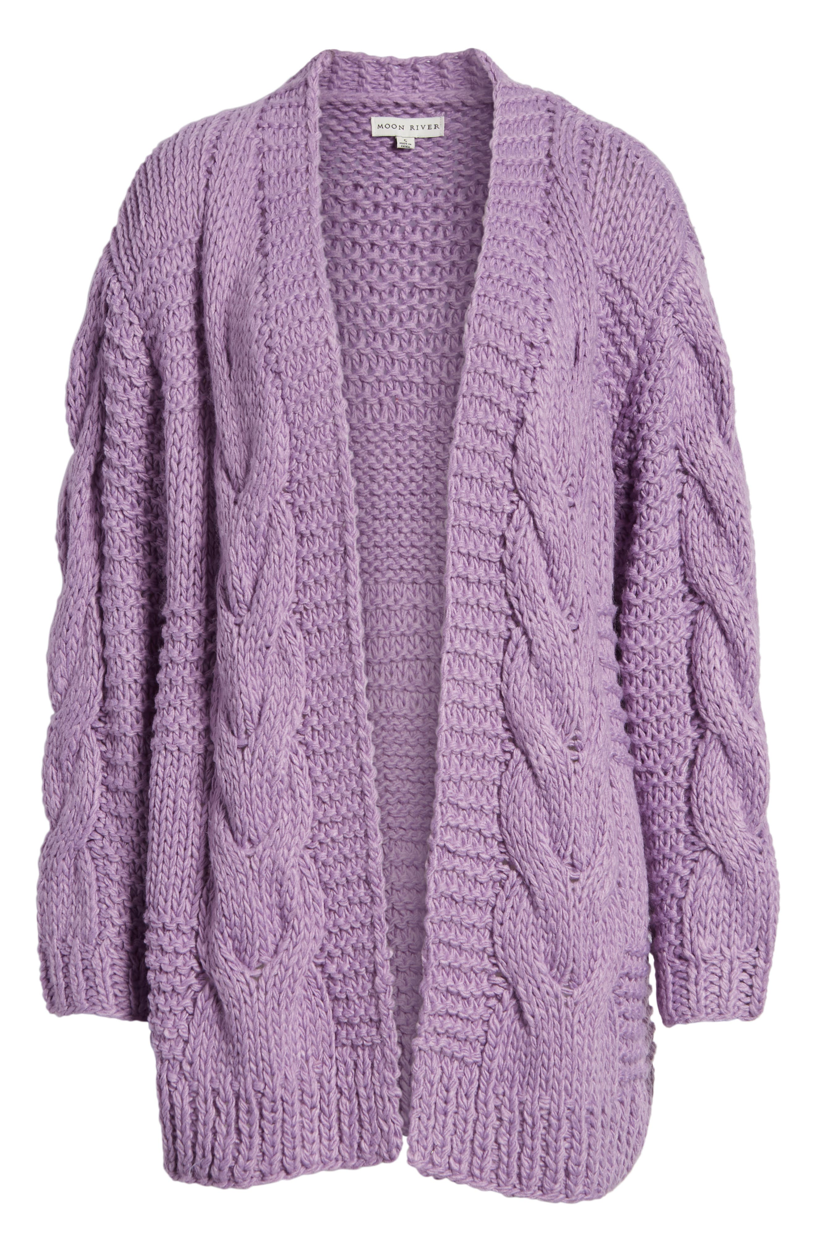 Cable Knit Oversized Cardigan,                             Alternate thumbnail 6, color,                             500