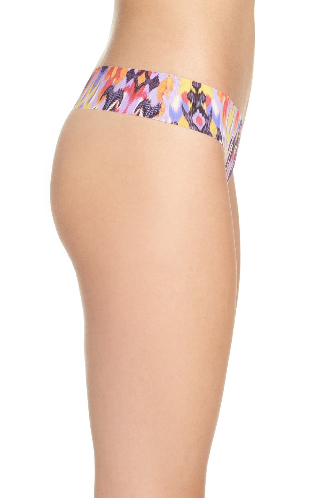Print Microfiber Thong,                             Alternate thumbnail 244, color,