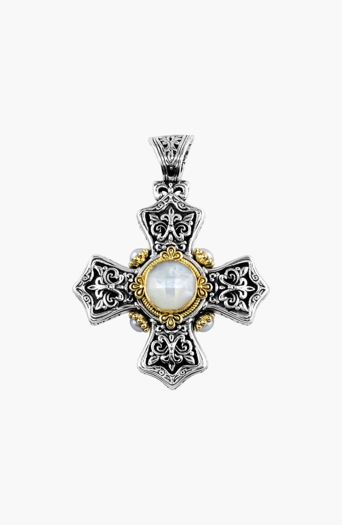 'Selene' Maltese Cross Pendant,                         Main,                         color,