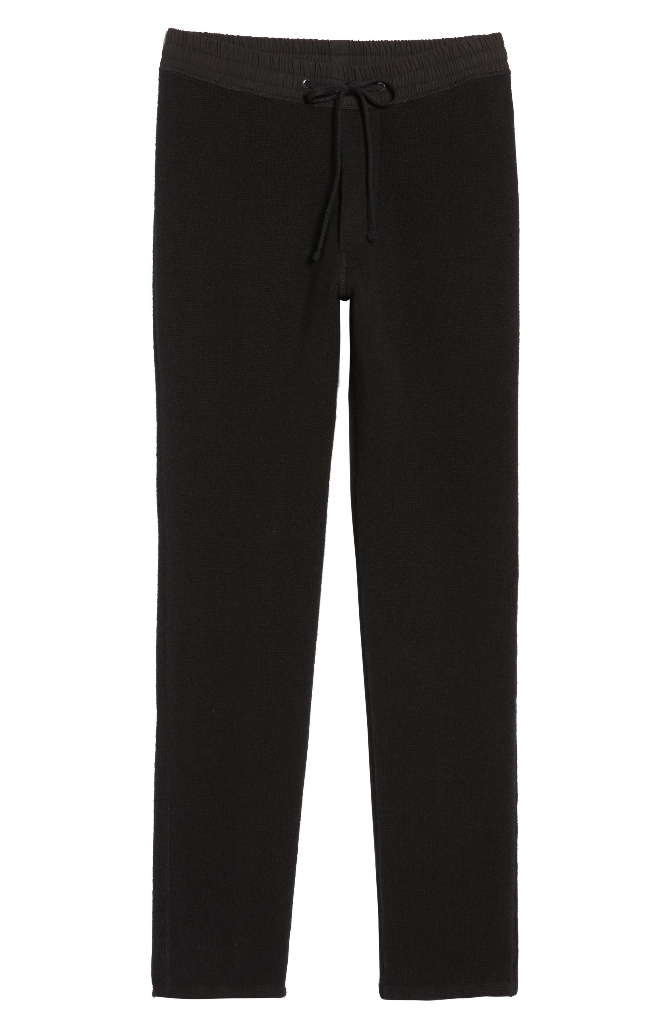 Cashmere Sweatpants,                             Alternate thumbnail 6, color,                             001