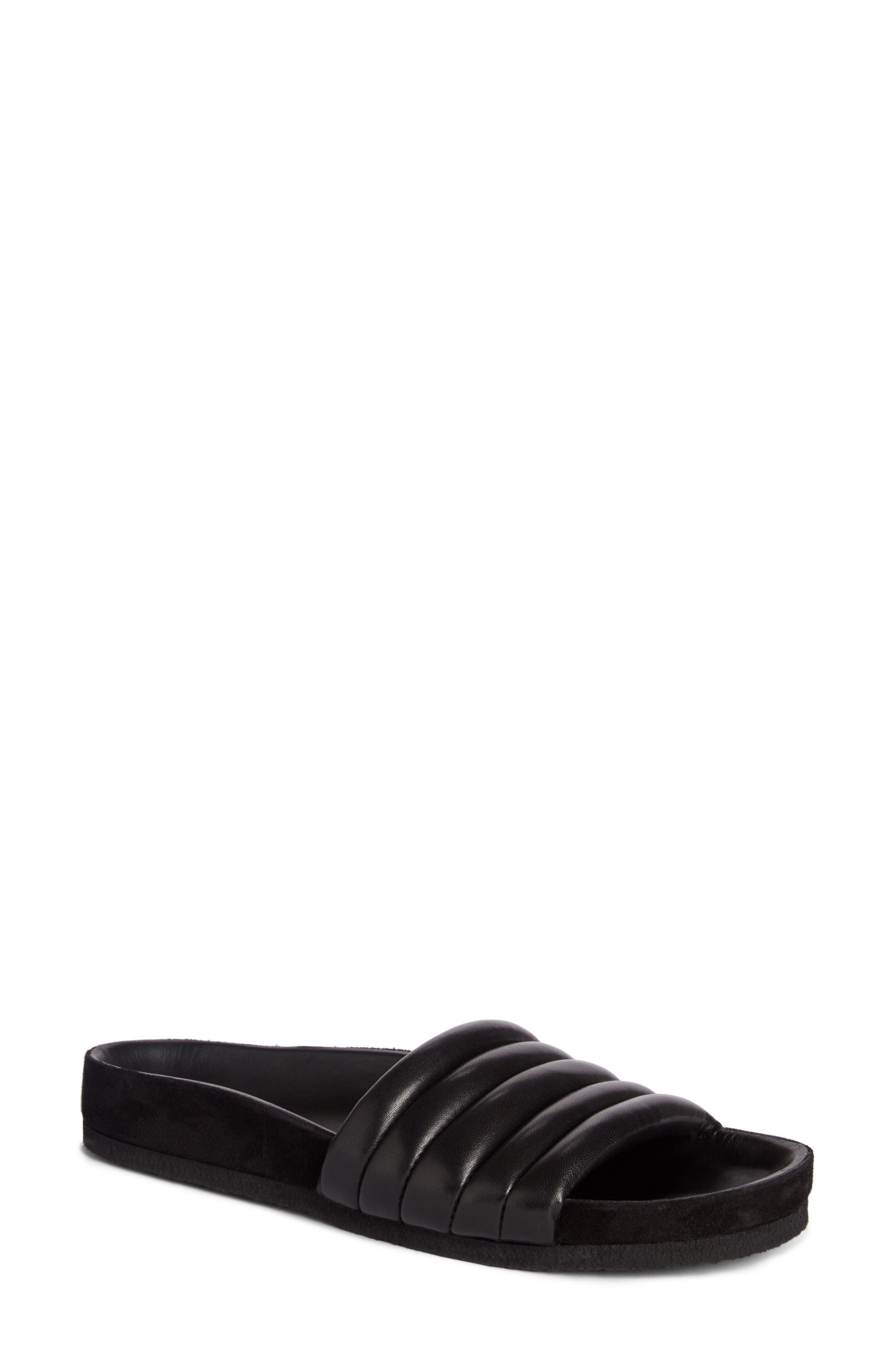 Hellea Slide Sandal,                         Main,                         color, BLACK