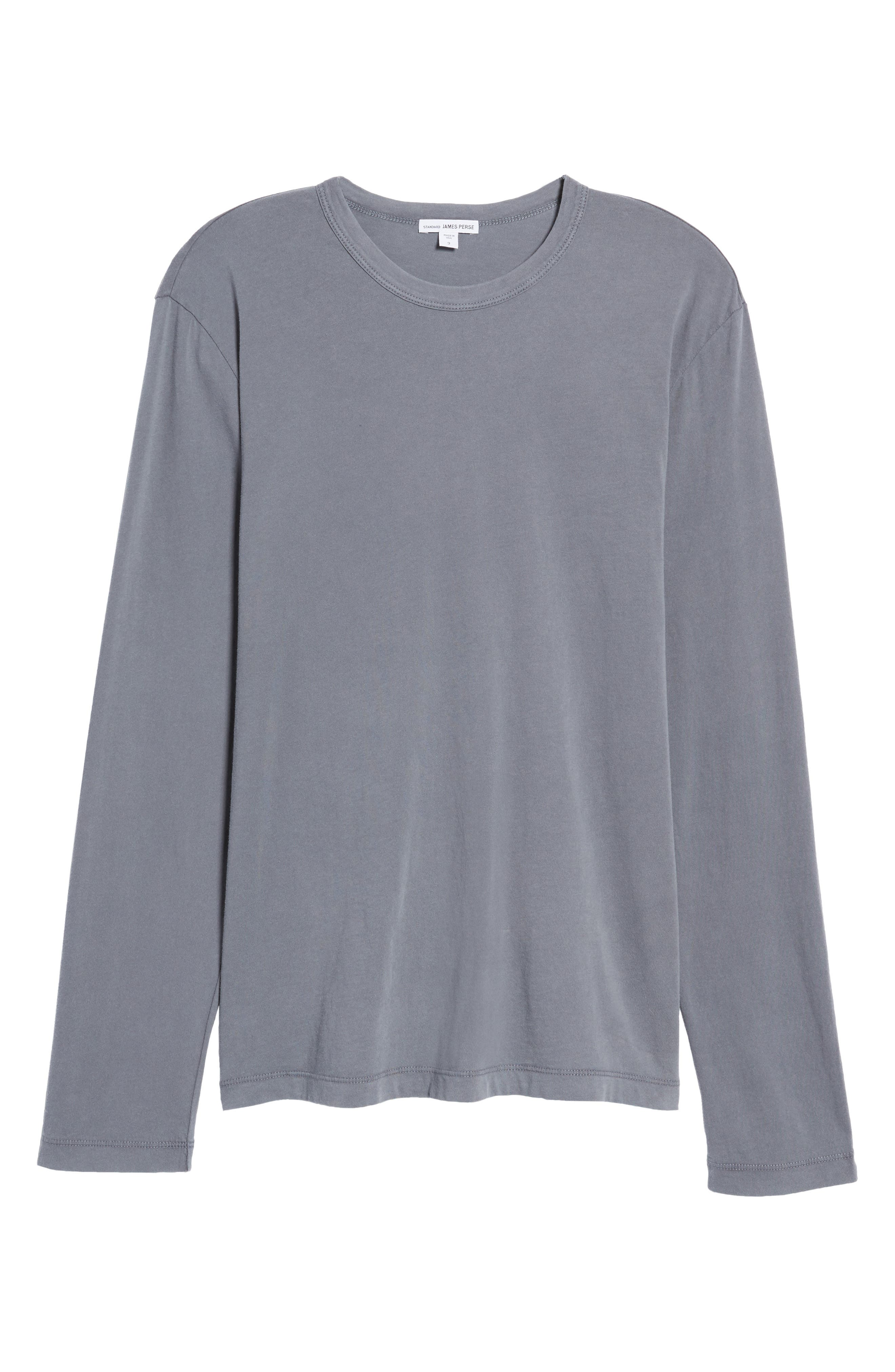 Long Sleeve Crewneck T-Shirt,                             Alternate thumbnail 7, color,                             NORTH PIGMENT GREY