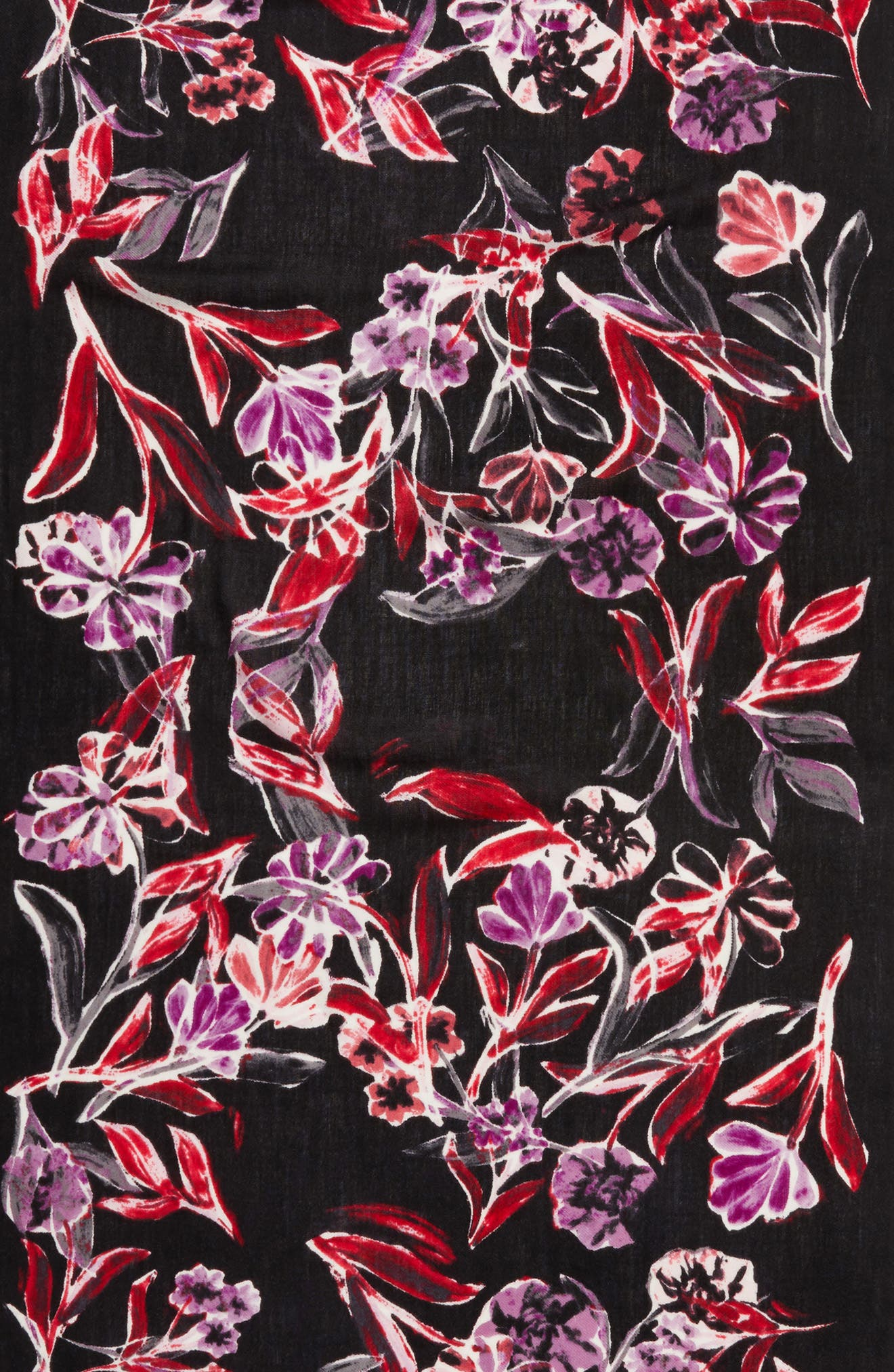 Pressed Flowers Tissue Weight Wool & Cashmere Scarf,                             Alternate thumbnail 10, color,
