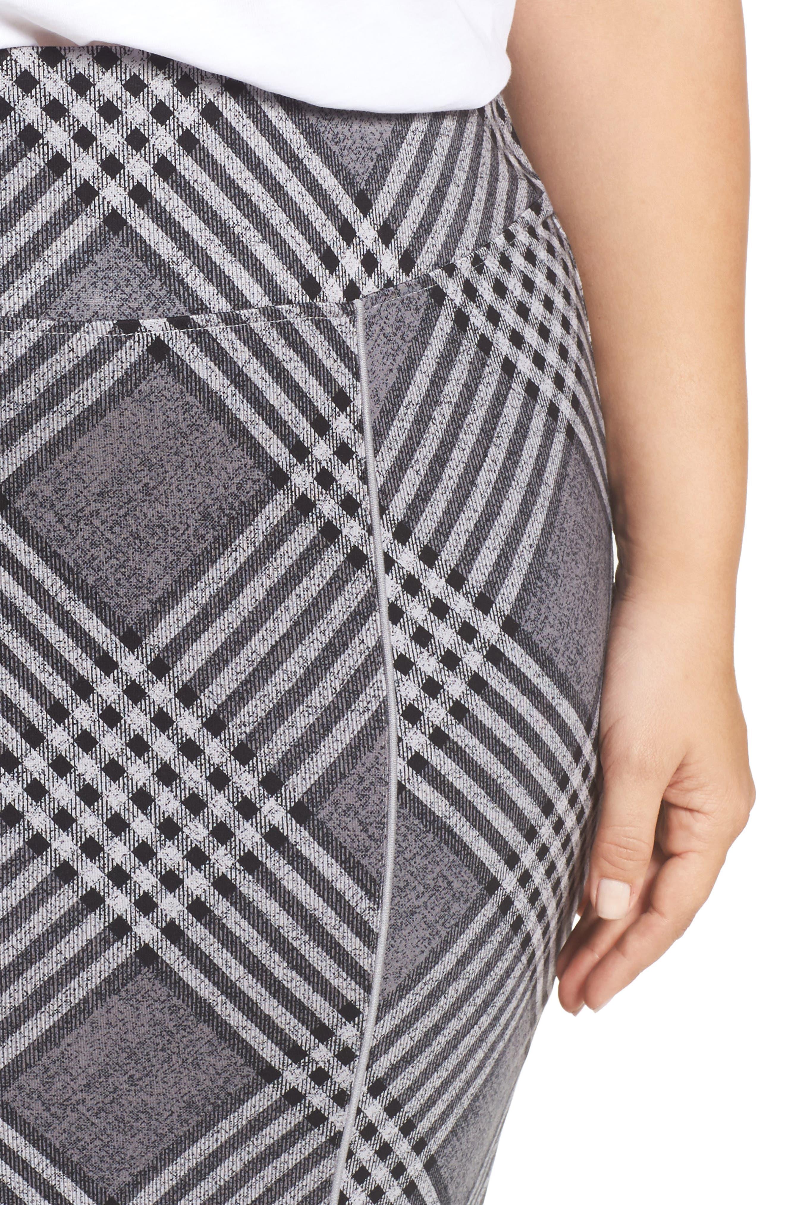 Plaid Pencil Skirt,                             Alternate thumbnail 4, color,                             036
