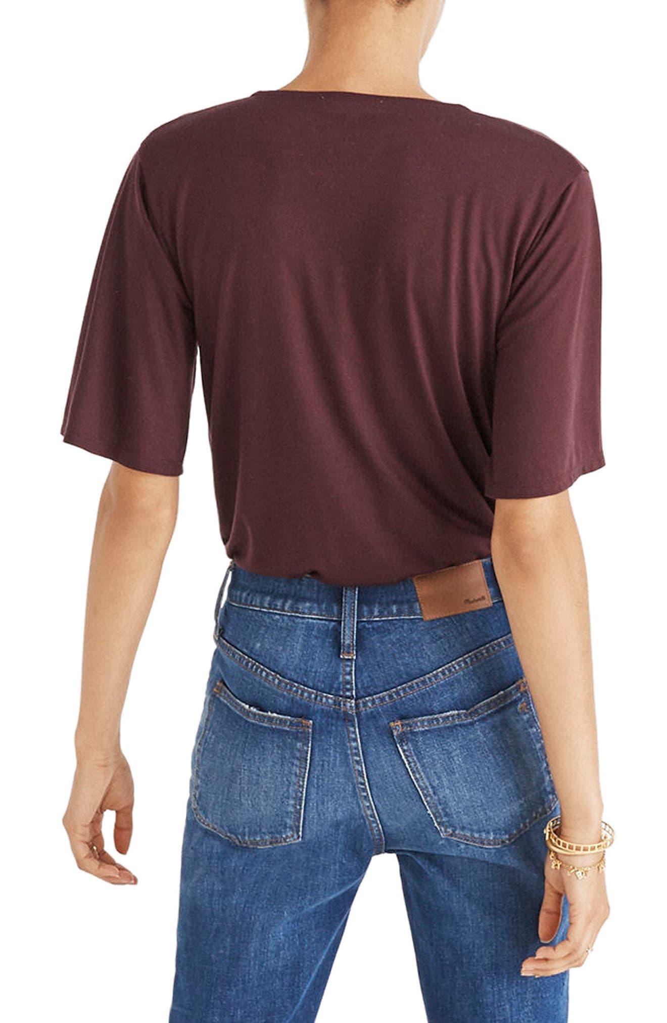 Faux Wrap Bodysuit,                             Alternate thumbnail 4, color,