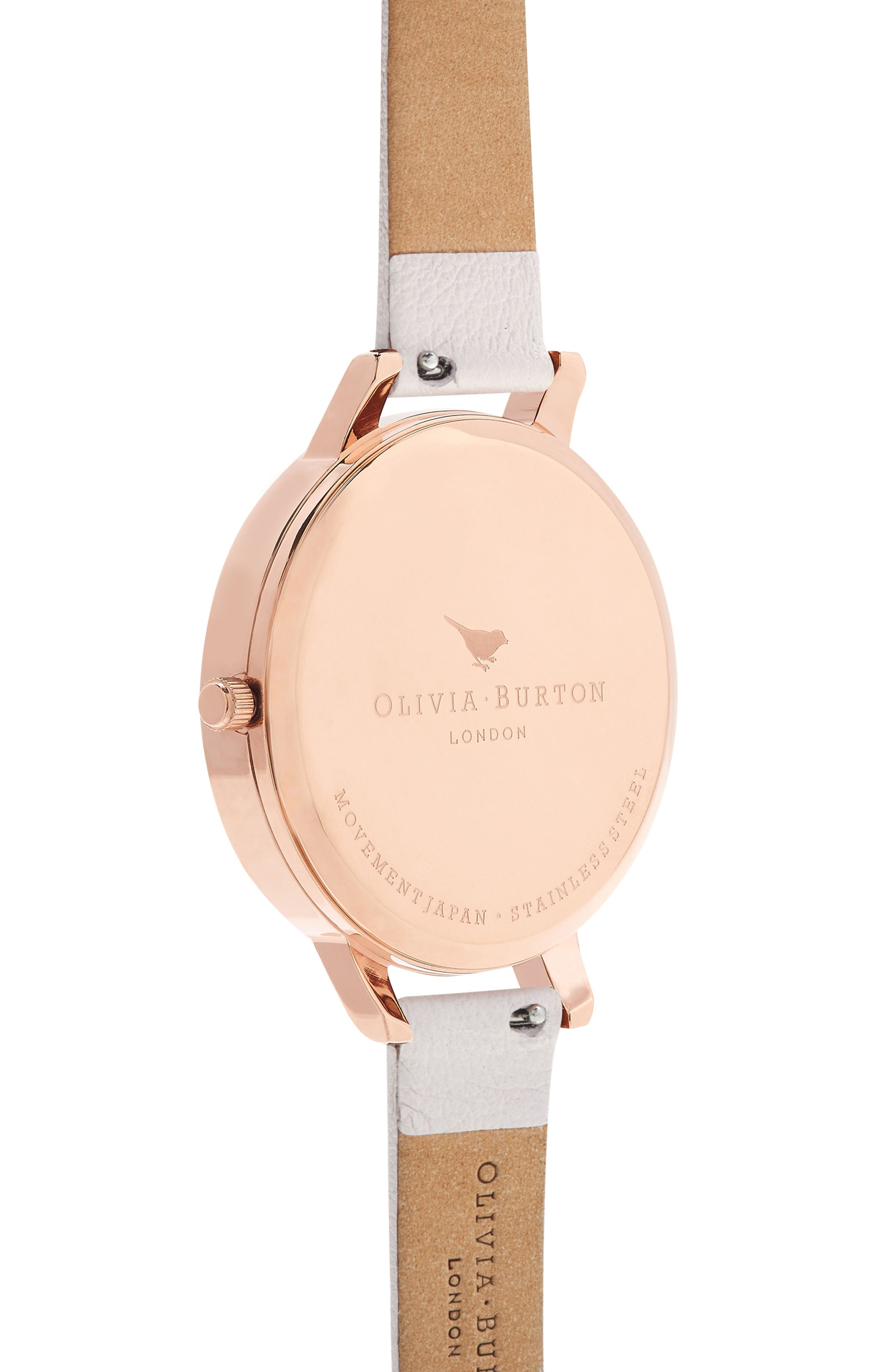 Glasshouse Leather Strap Watch, 38mm,                             Alternate thumbnail 2, color,                             BLUSH/ FLORAL/ ROSE GOLD