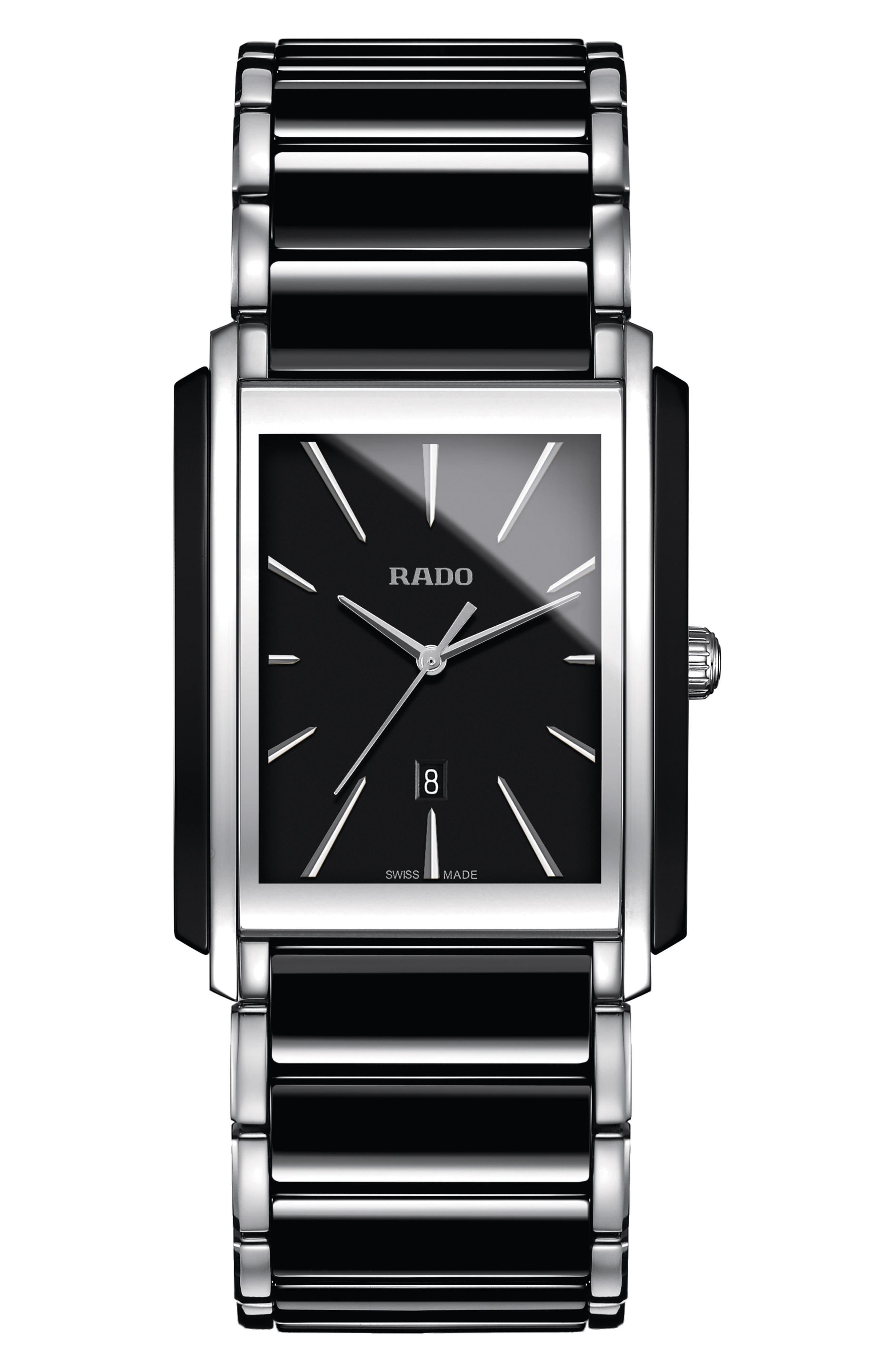 Men's Rado Integral Tank Bracelet Watch, 31Mm X 41Mm