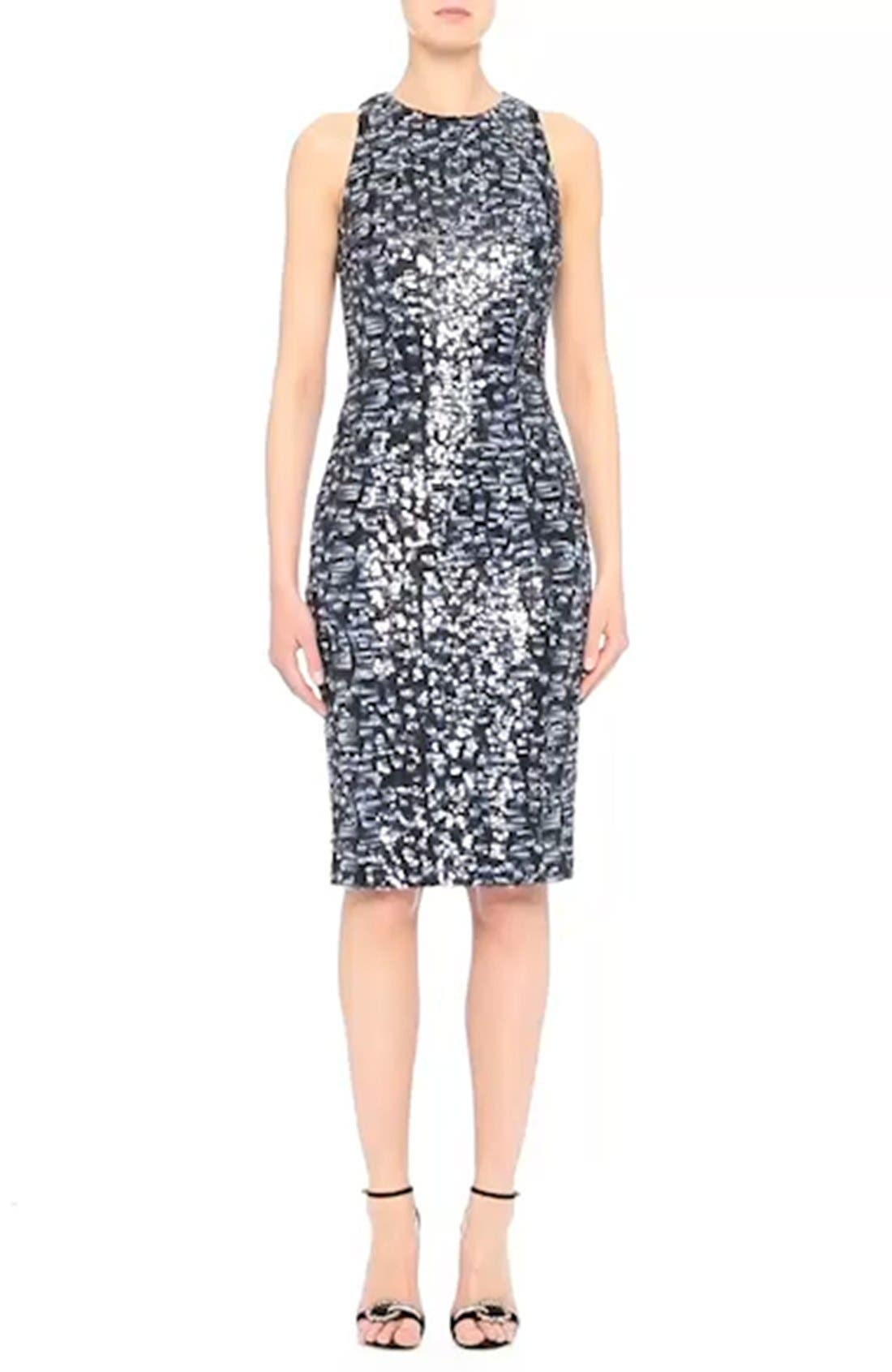 Sequin Sheath Dress,                             Alternate thumbnail 7, color,                             400