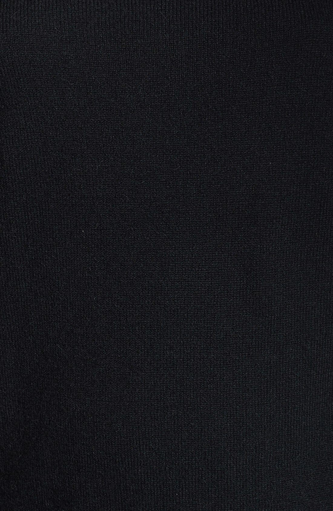 Solid Cashmere Sweater,                             Alternate thumbnail 2, color,                             001