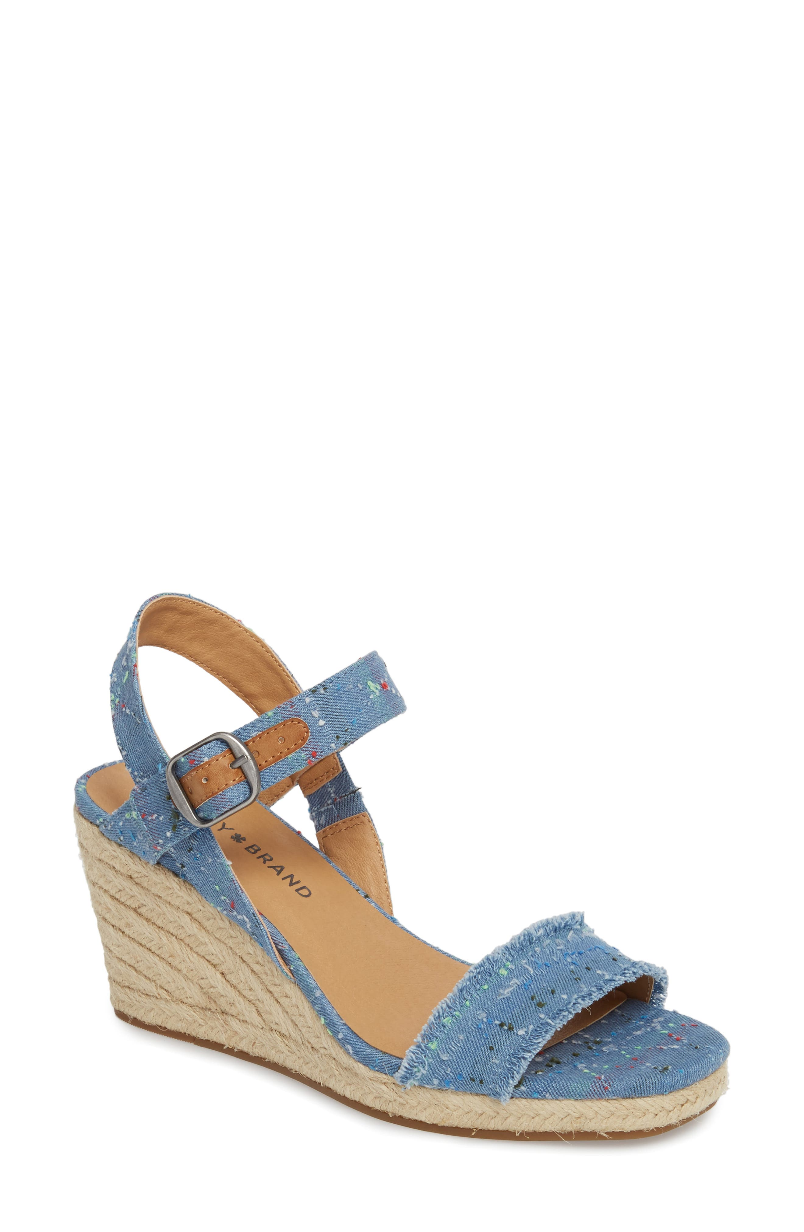 Marceline Squared Toe Wedge Sandal,                             Main thumbnail 5, color,