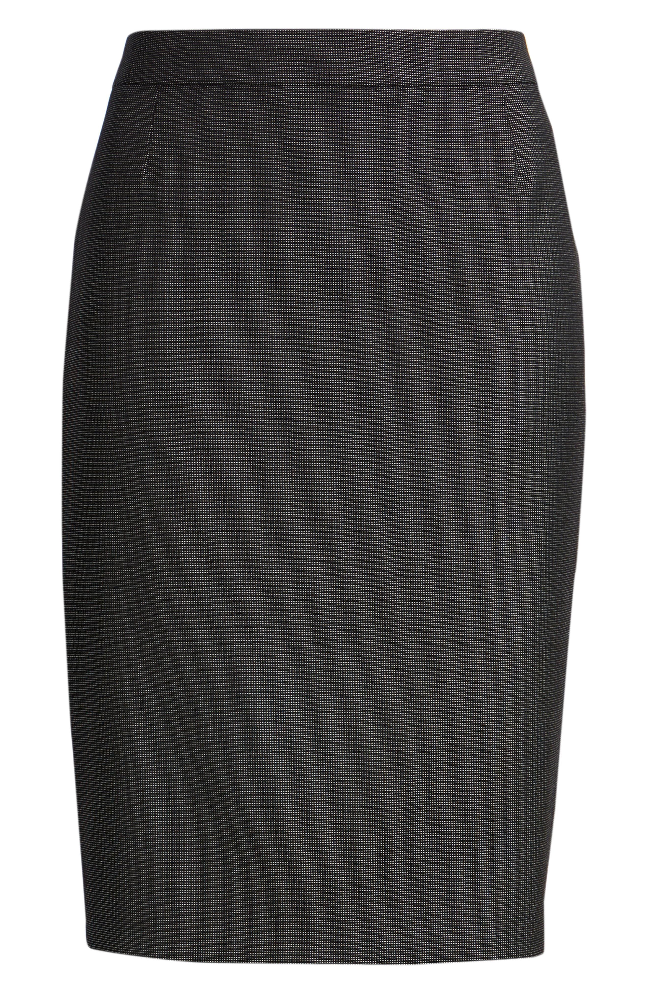 Vimena Stretch Wool Blend Suit Skirt,                             Alternate thumbnail 6, color,                             009