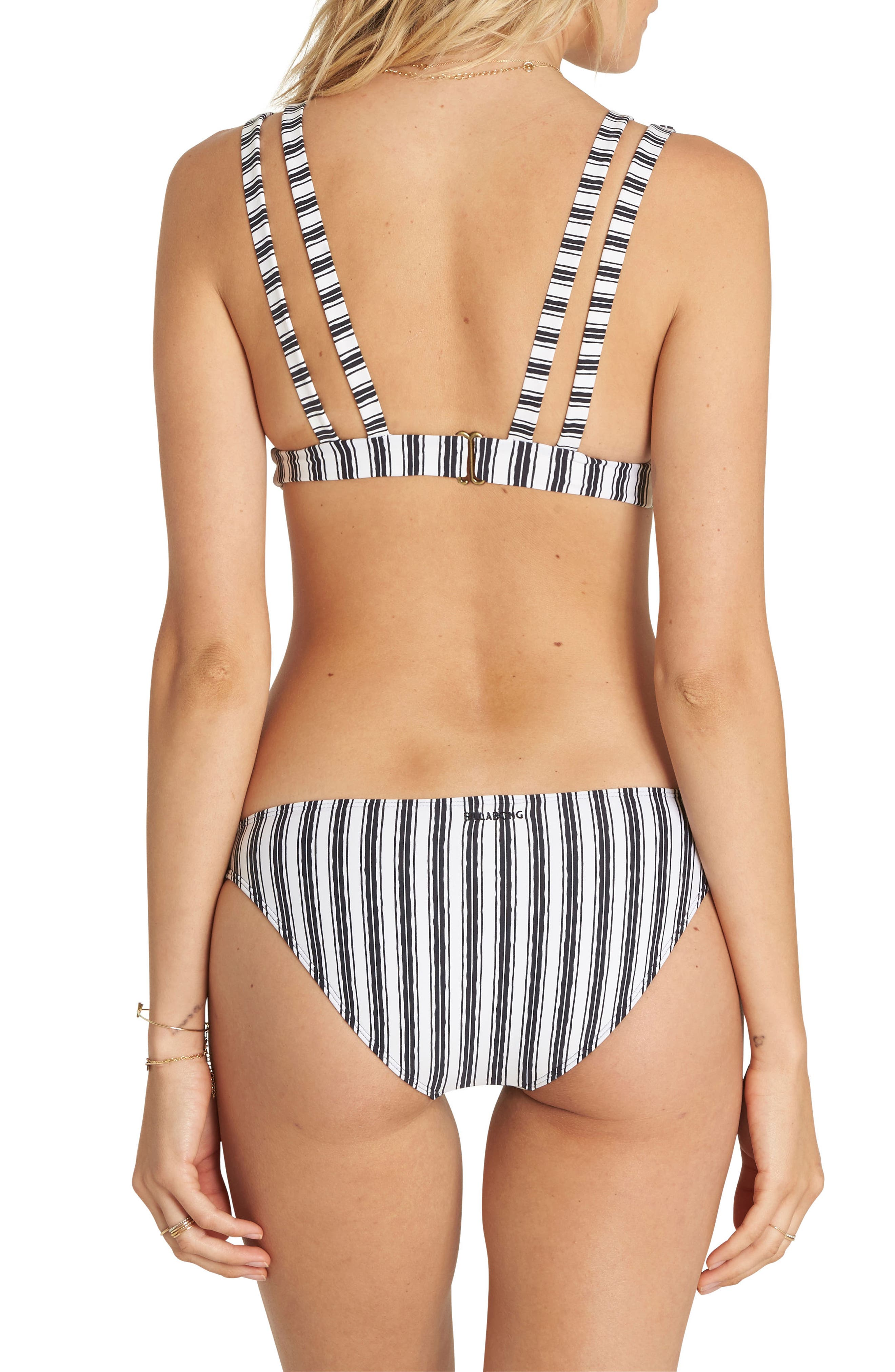Get in Line Lowrider Bikini Bottoms,                             Alternate thumbnail 4, color,                             001