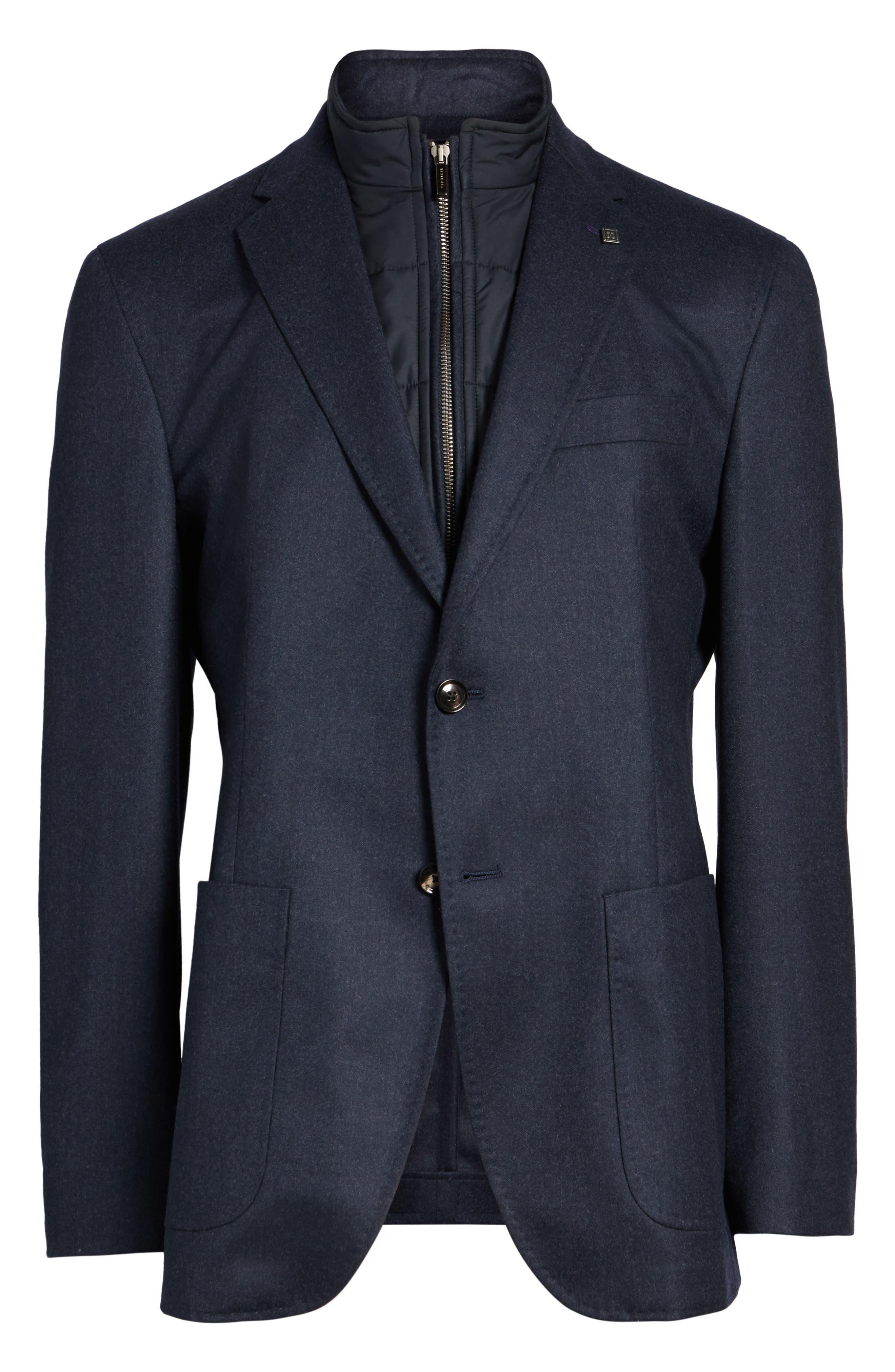 Tucker Trim Fit Plaid Wool Sport Coat,                             Alternate thumbnail 5, color,                             400