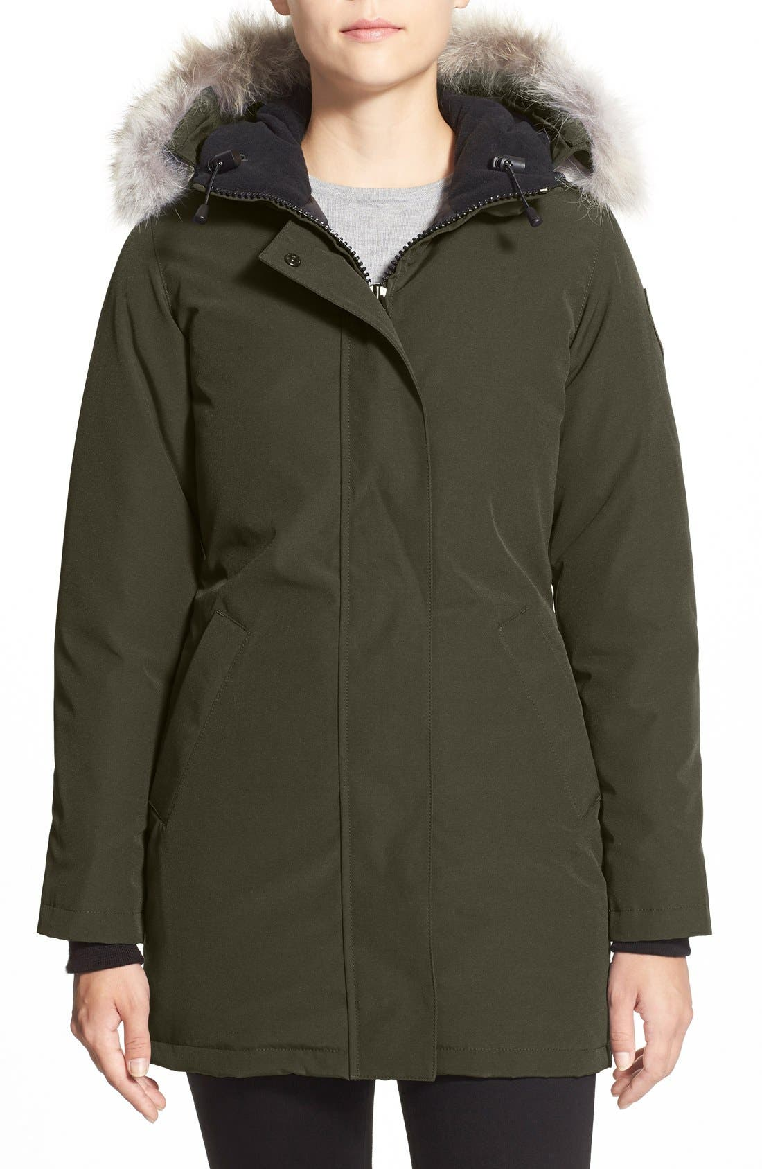 Canada Goose Victoria Down Parka With Genuine Coyote Fur Trim, (2-4) - Green