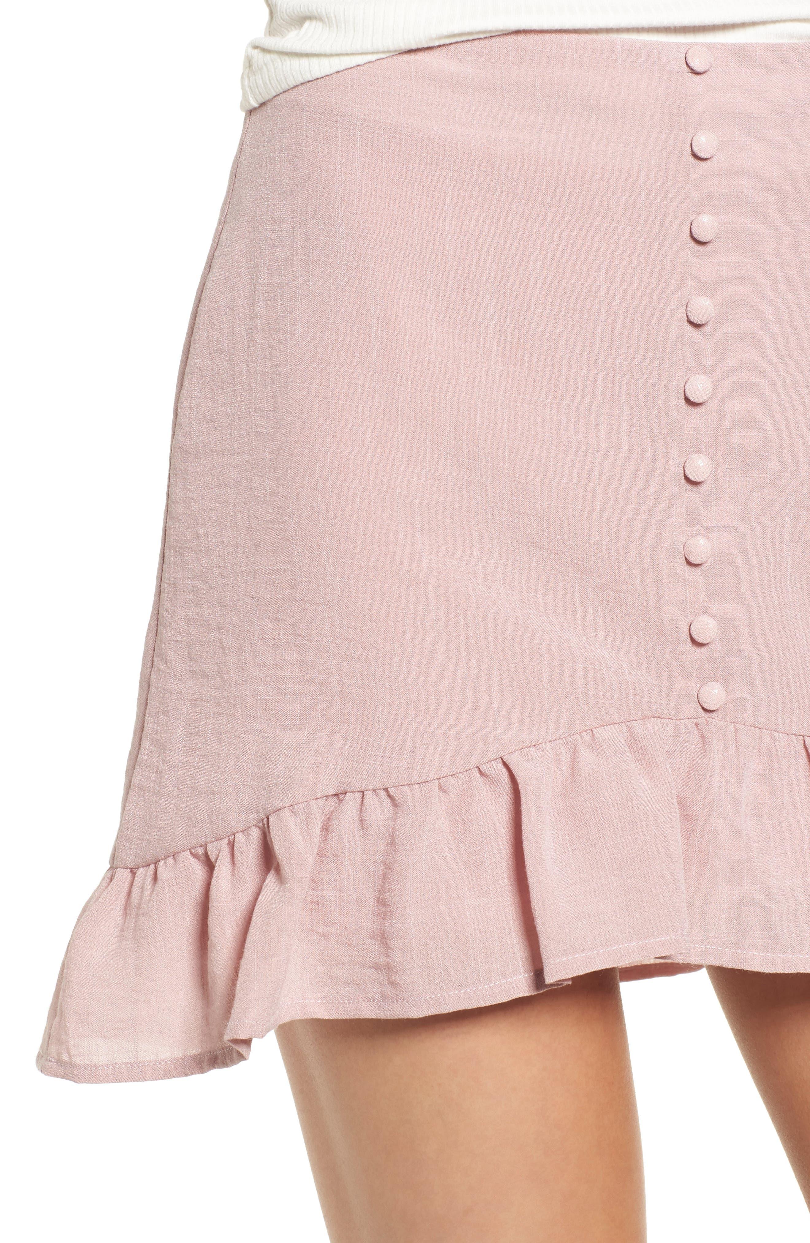 Peony Ruffle Hem Skirt,                             Alternate thumbnail 4, color,                             681