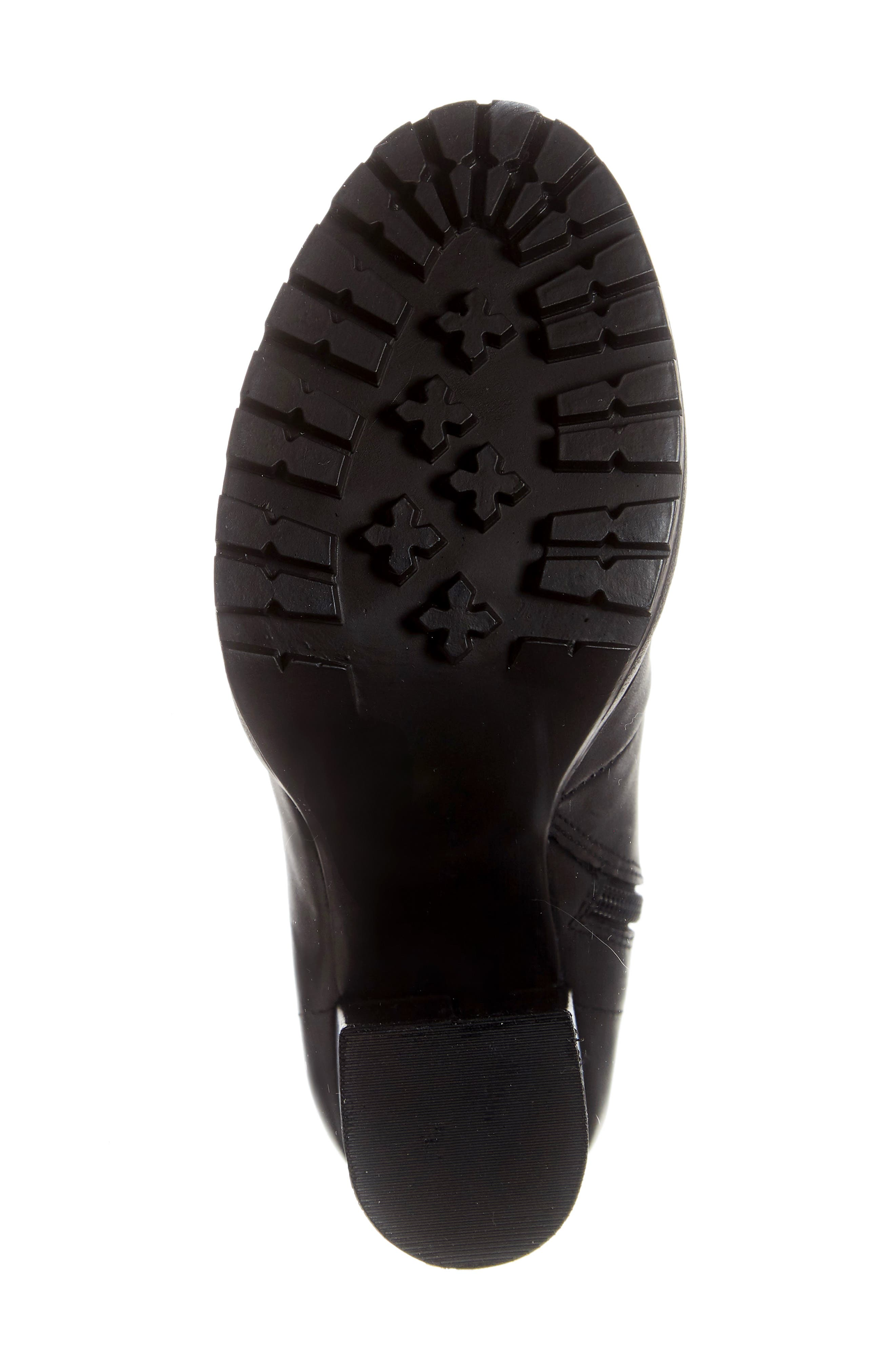 Latch Boot,                             Alternate thumbnail 6, color,                             BLACK LEATHER