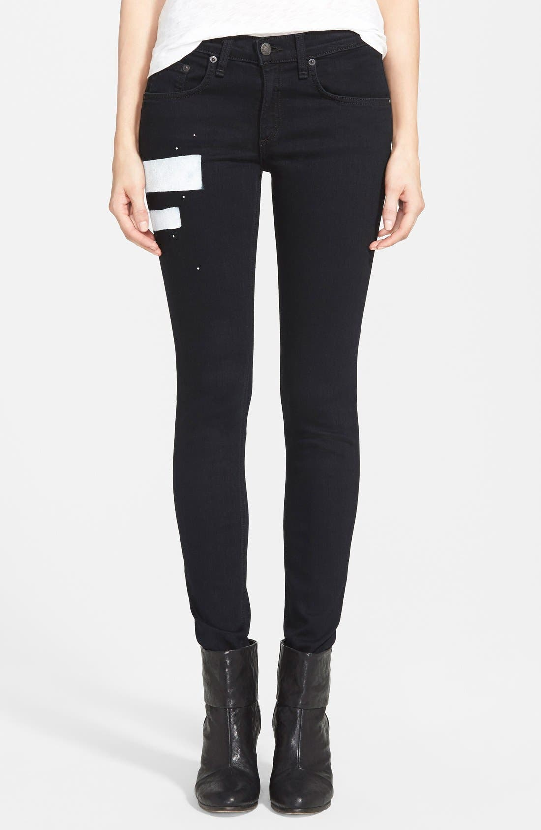 'The Skinny' Stretch Jeans,                             Main thumbnail 4, color,