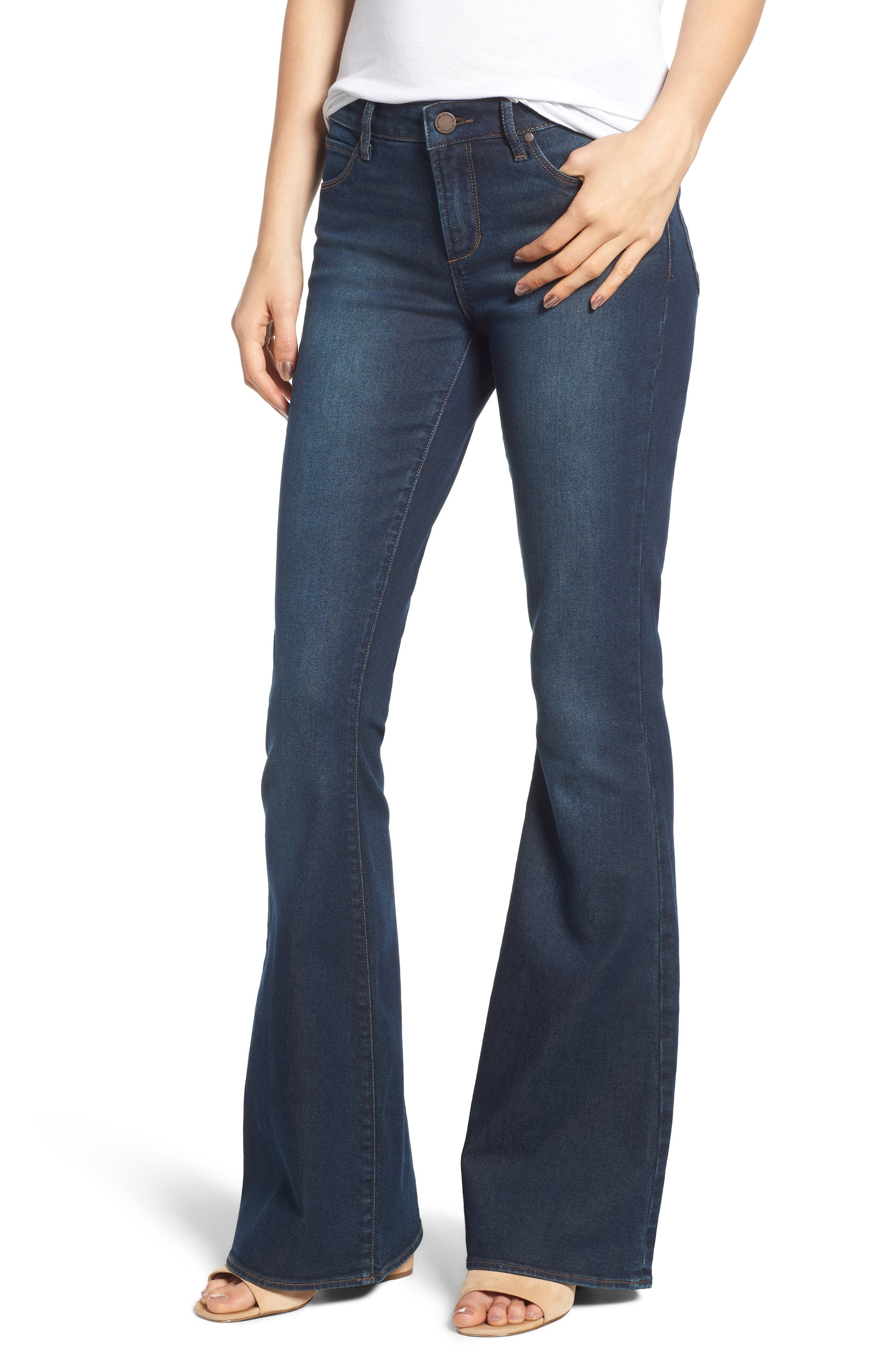 ARTICLES OF SOCIETY Faith Flare Jeans in Northport Dark Wash