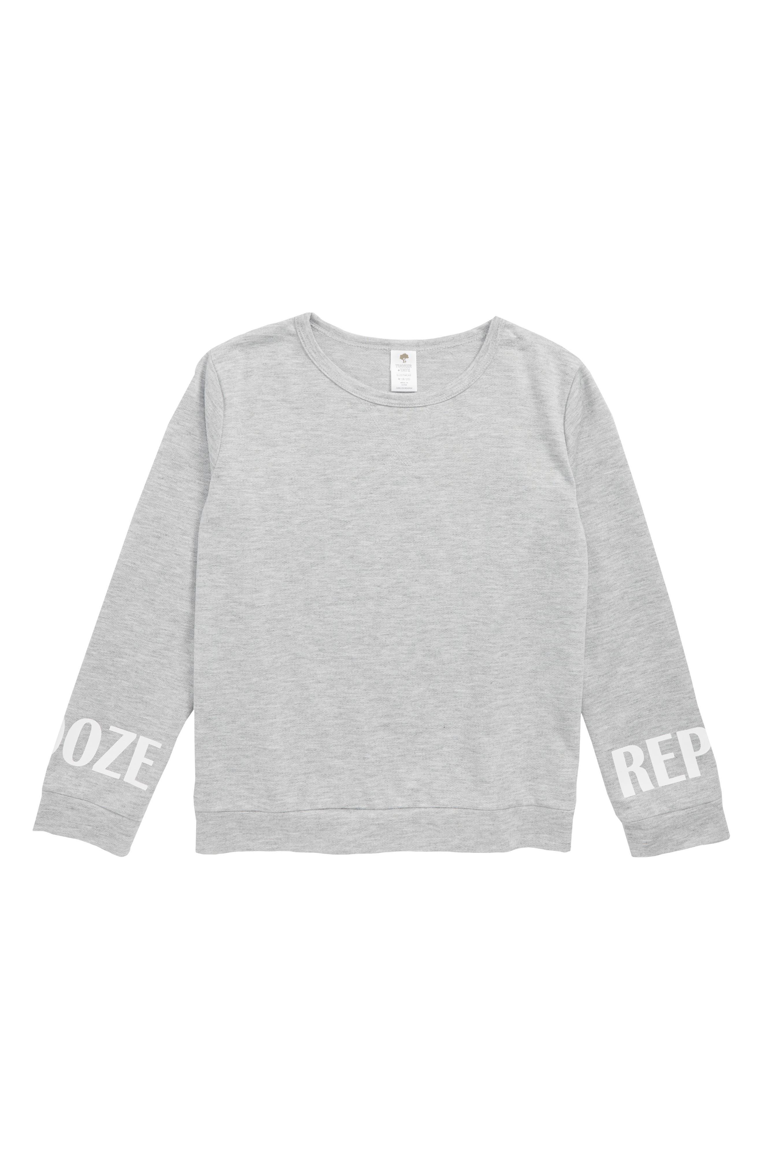 Pajama Sweatshirt,                             Main thumbnail 1, color,                             050