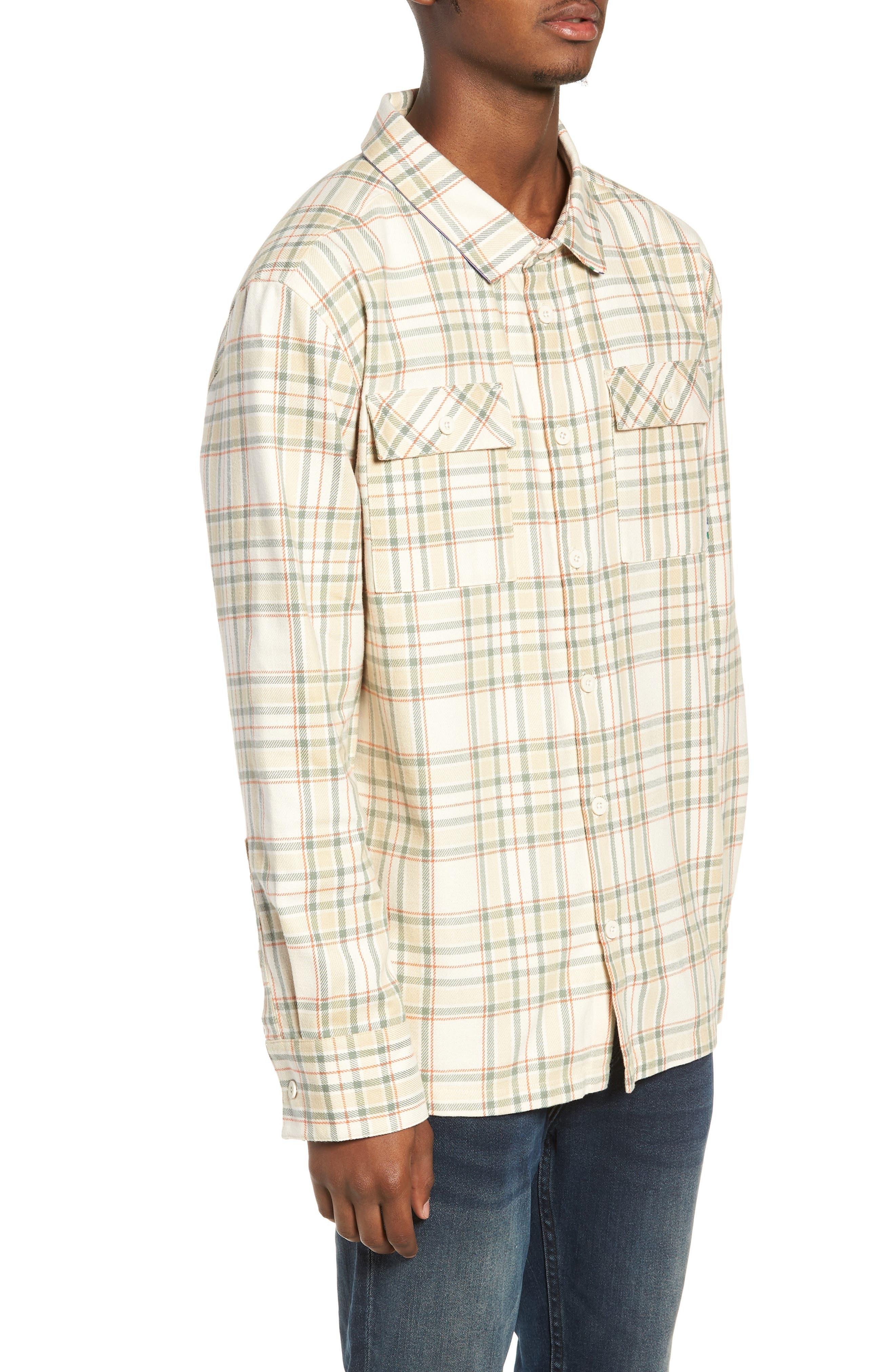 PUMA,                             x Big Sean Check Shirt,                             Alternate thumbnail 3, color,                             100