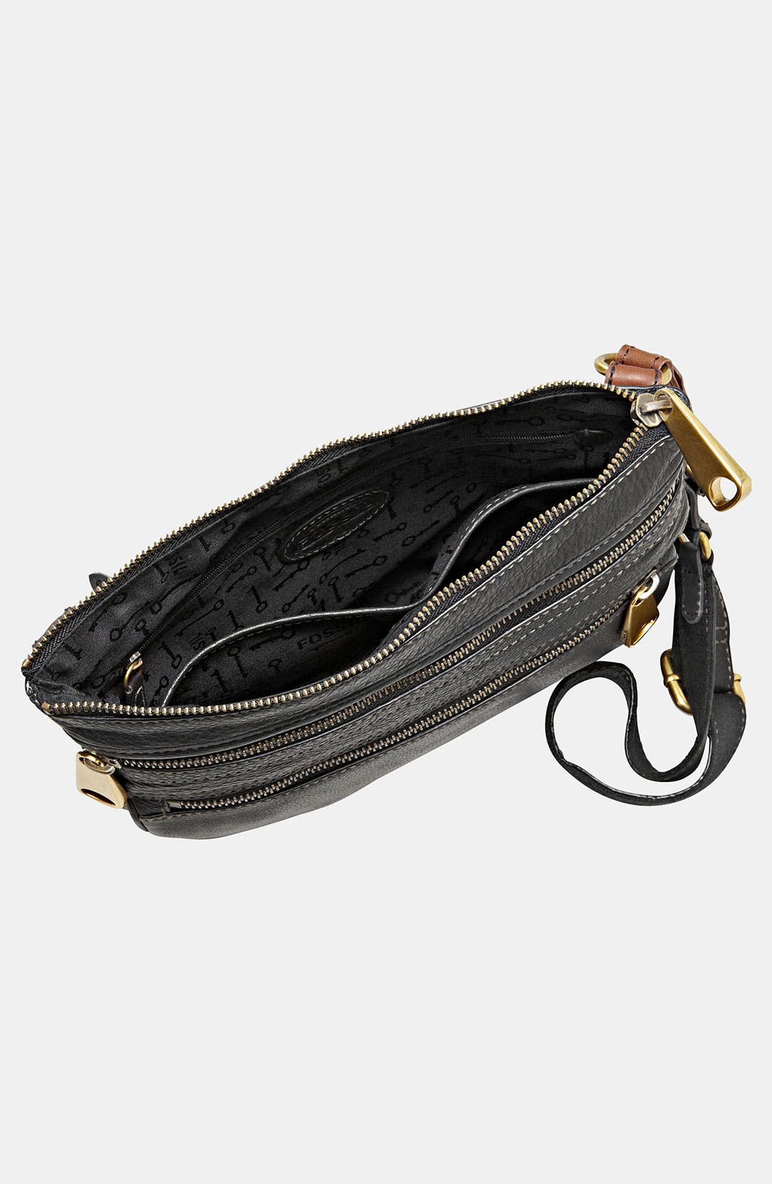 'Explorer' Crossbody Bag,                             Alternate thumbnail 4, color,                             001