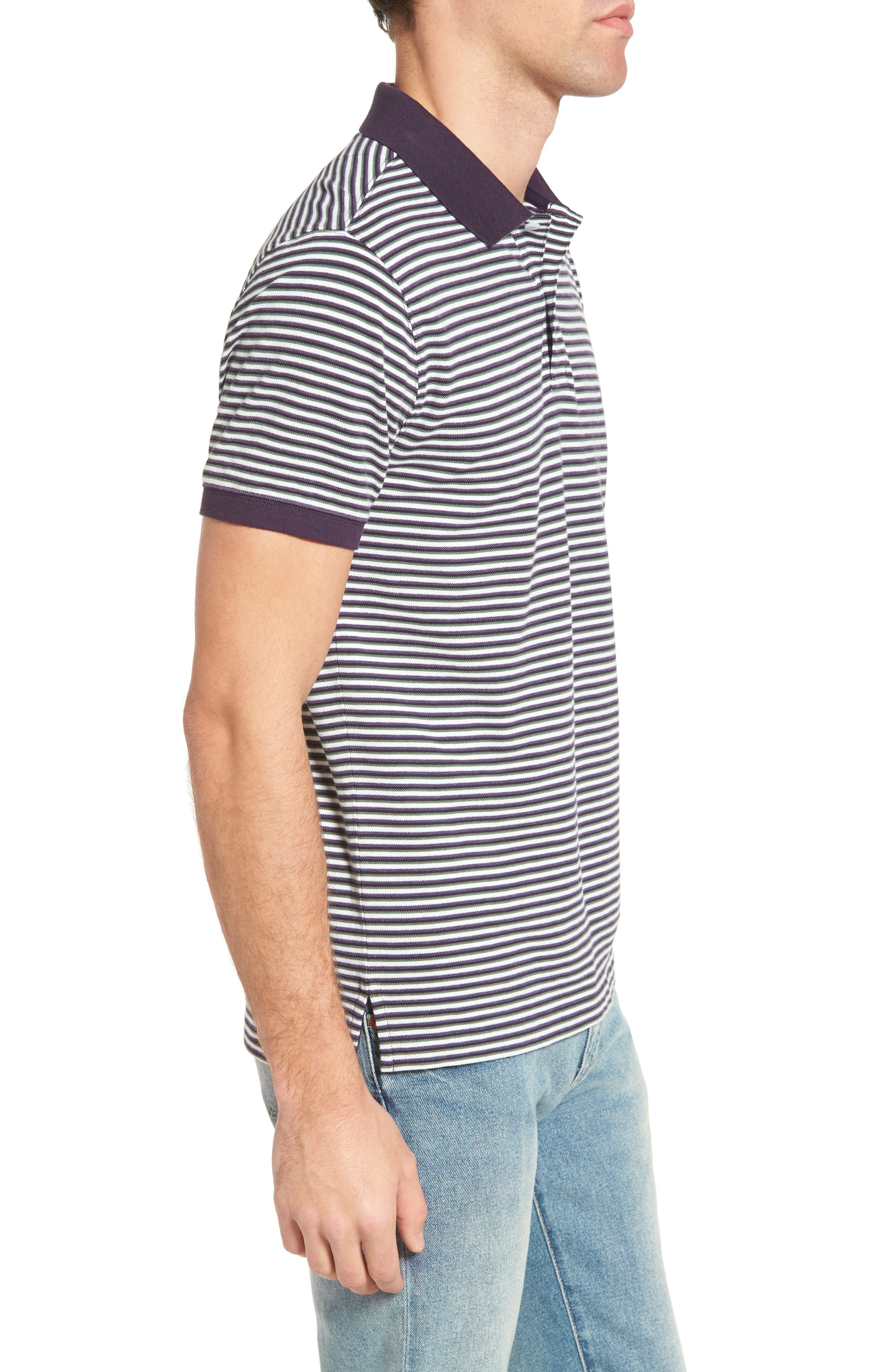 Swyers Point Sports Fit Stripe Polo,                             Alternate thumbnail 3, color,