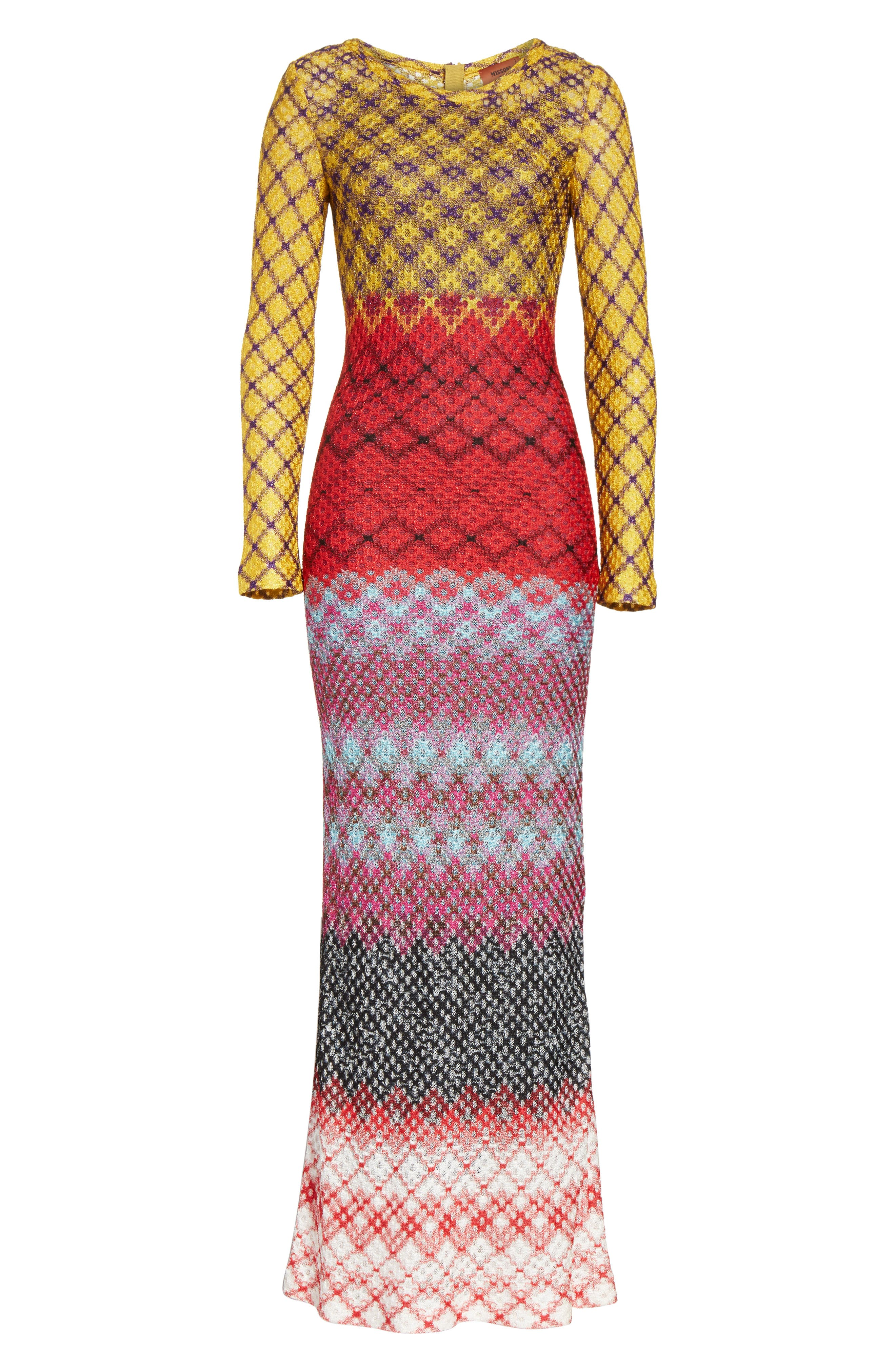 Metallic Knit Maxi Dress,                             Alternate thumbnail 6, color,                             640