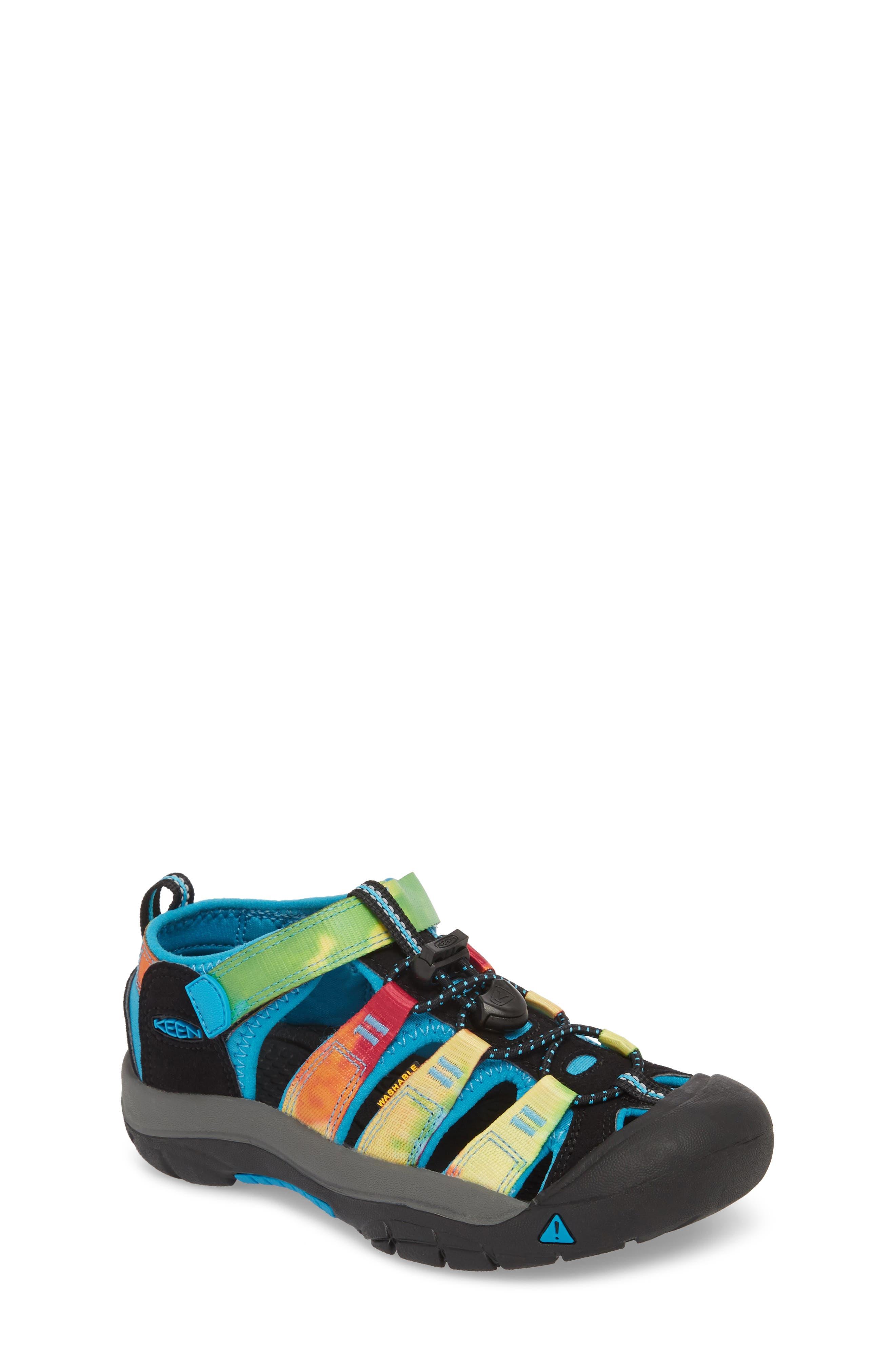 'Newport H2' Water Friendly Sandal,                             Main thumbnail 1, color,                             RAINBOW TIE DYE