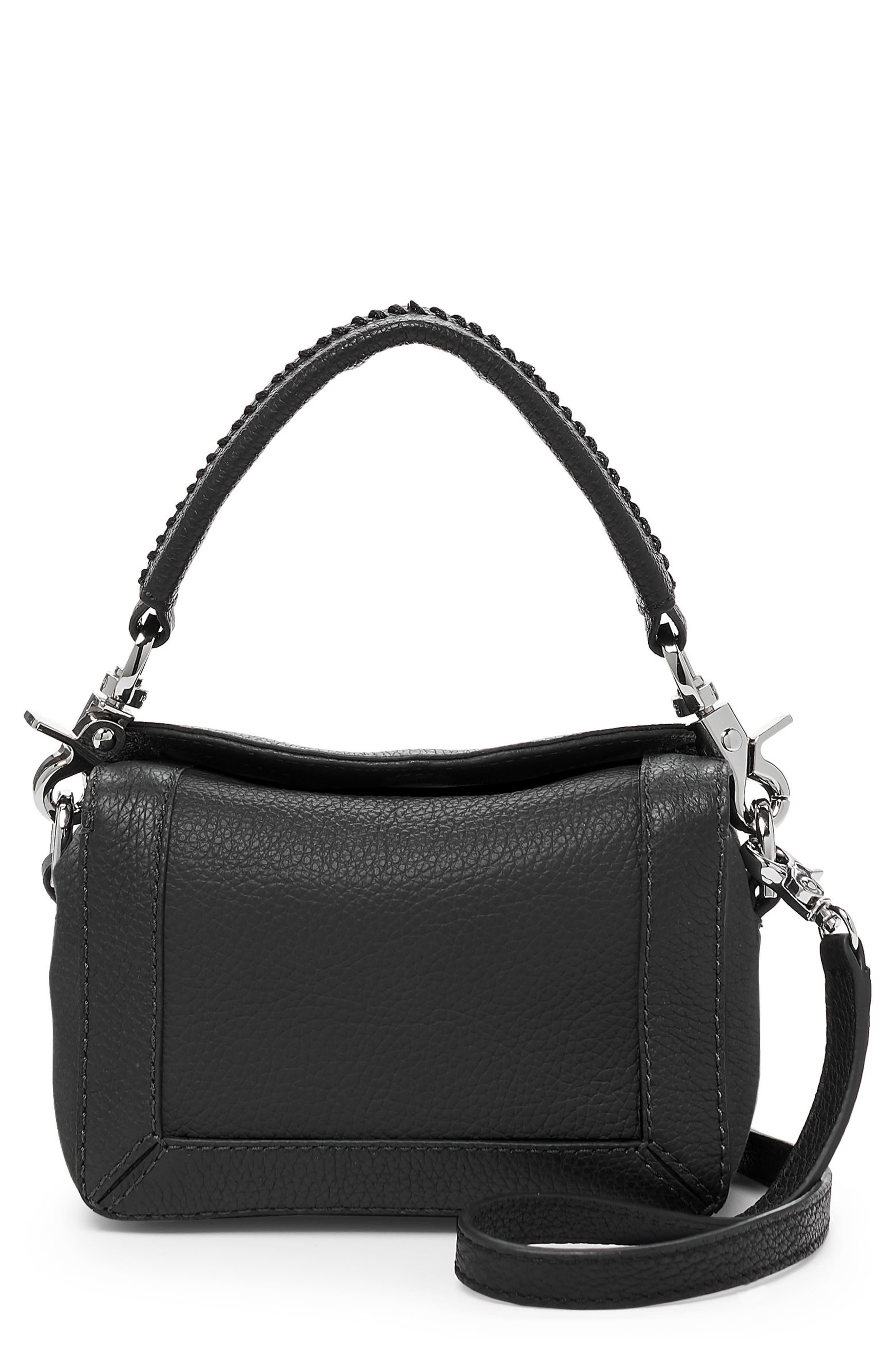Small Barrow Leather Crossbody Bag,                         Main,                         color, BLACK
