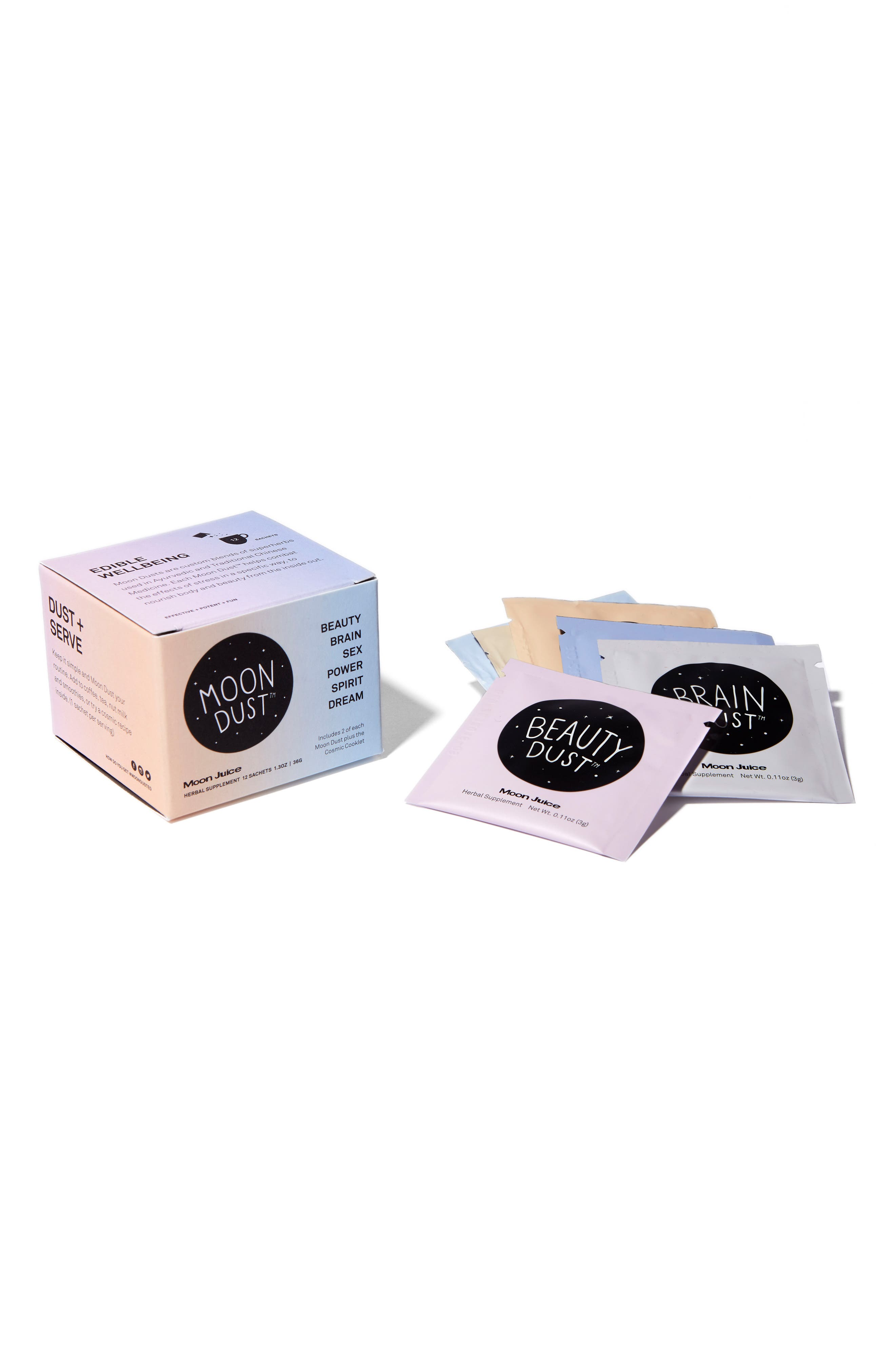 MOON JUICE,                             Moon Dust Set of 12 Assorted Herbal Supplement Sachets,                             Alternate thumbnail 4, color,                             000