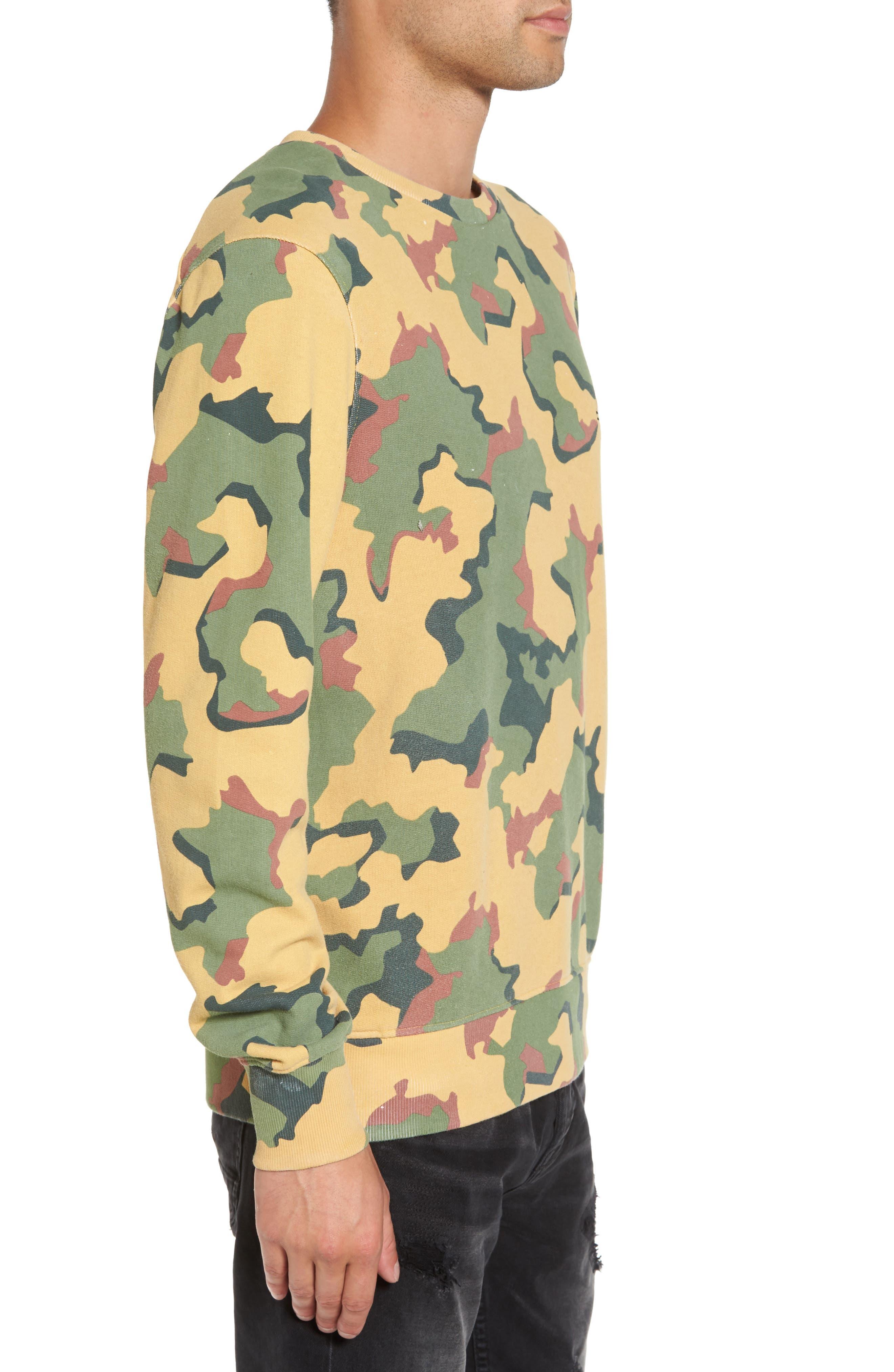 Anatole Camo Fleece Sweatshirt,                             Alternate thumbnail 3, color,